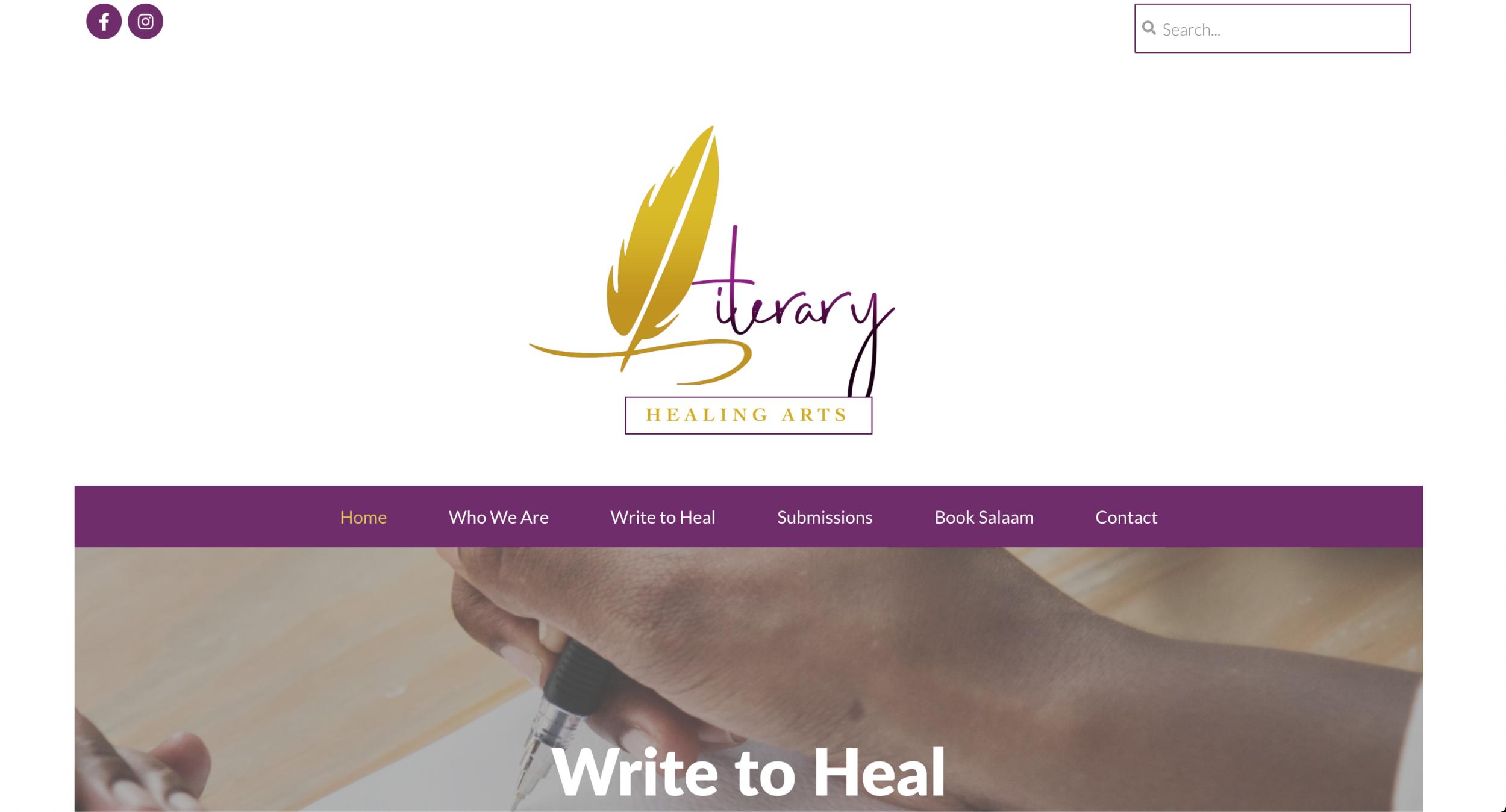New Literary Healing Arts Homepage