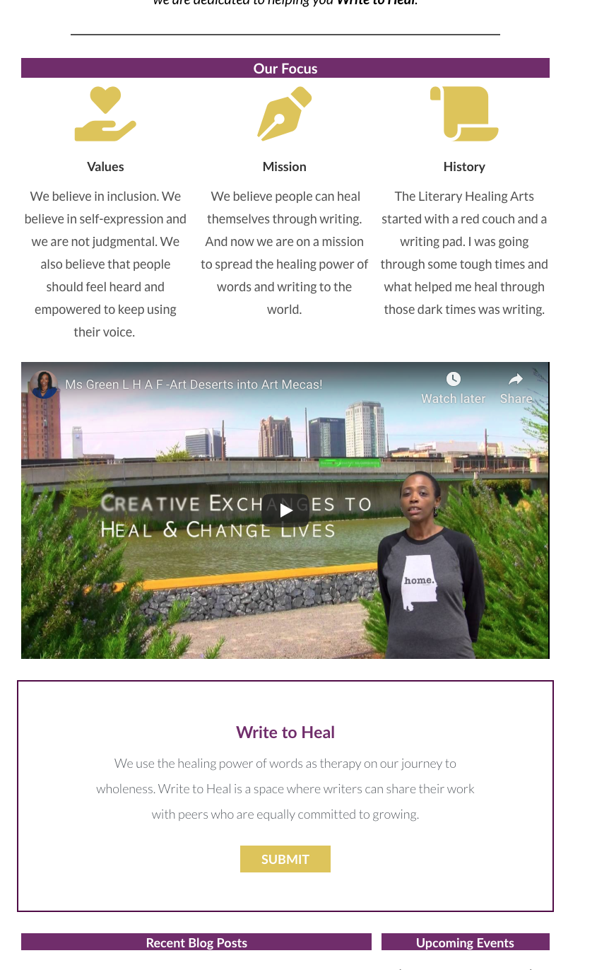 New LHA Homepage