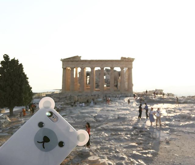 #ANICASE at the #Parthenon ! 🇬🇷🏛 . . . . . #anicase #iphonecase #iphone6s #polarbear #picoftheday #weekend #laborday #greece #athens #helloseptember #vacay #instavacay #sunset #athena #acropolis #🇬🇷 #🏛