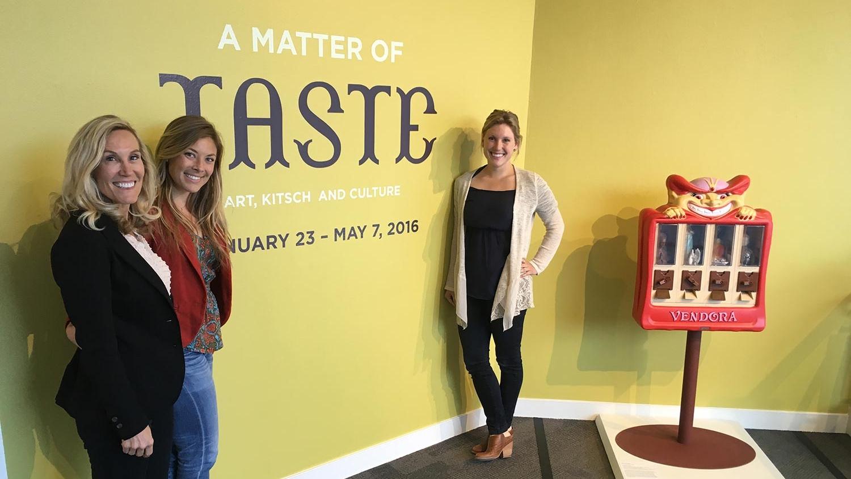 Nanette, Merritt and Chandler at the Matter of Taste Exhibition