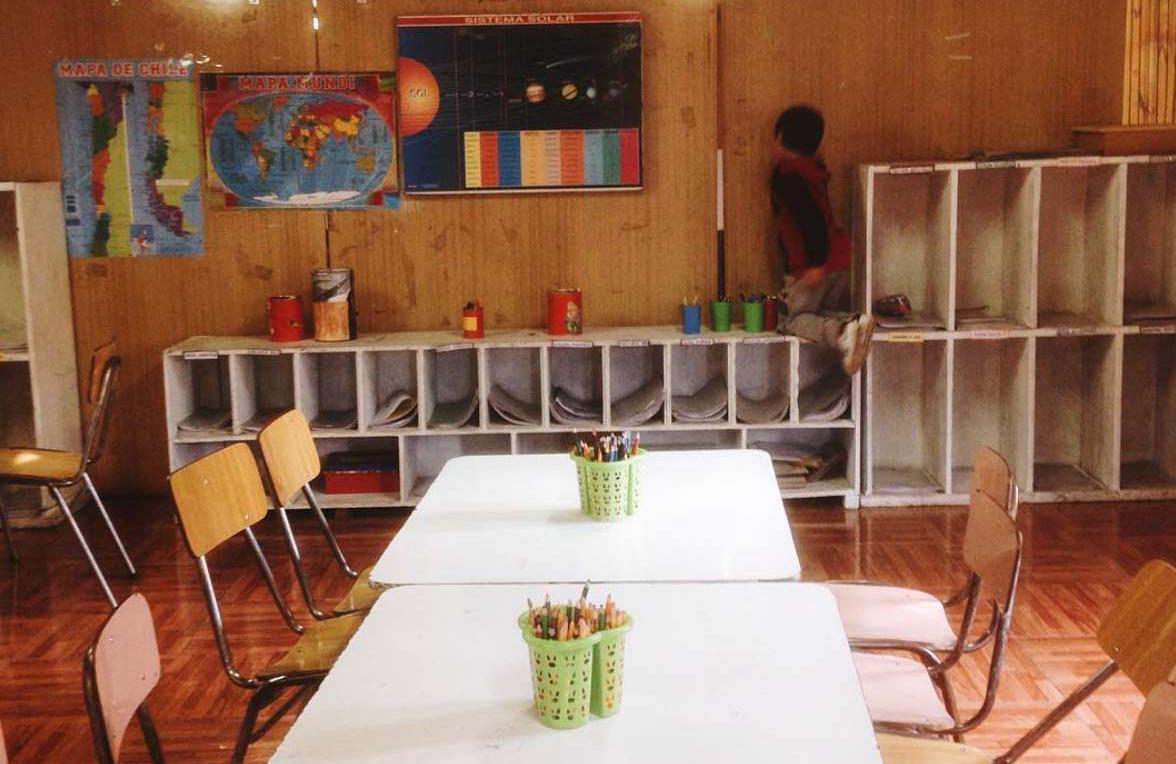 The classroom at Centro Abierto Santa Adriana