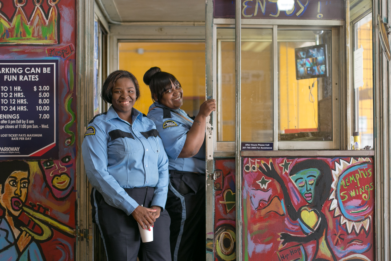 London and Lasherica are parking enforcers at Parking Can Be Fun garage in Downtown Memphis. Combined, they have a year and eight months of parking experience under their belts. Today is Lasherica's birthday. Join me in wishing her a Happy Birthday!