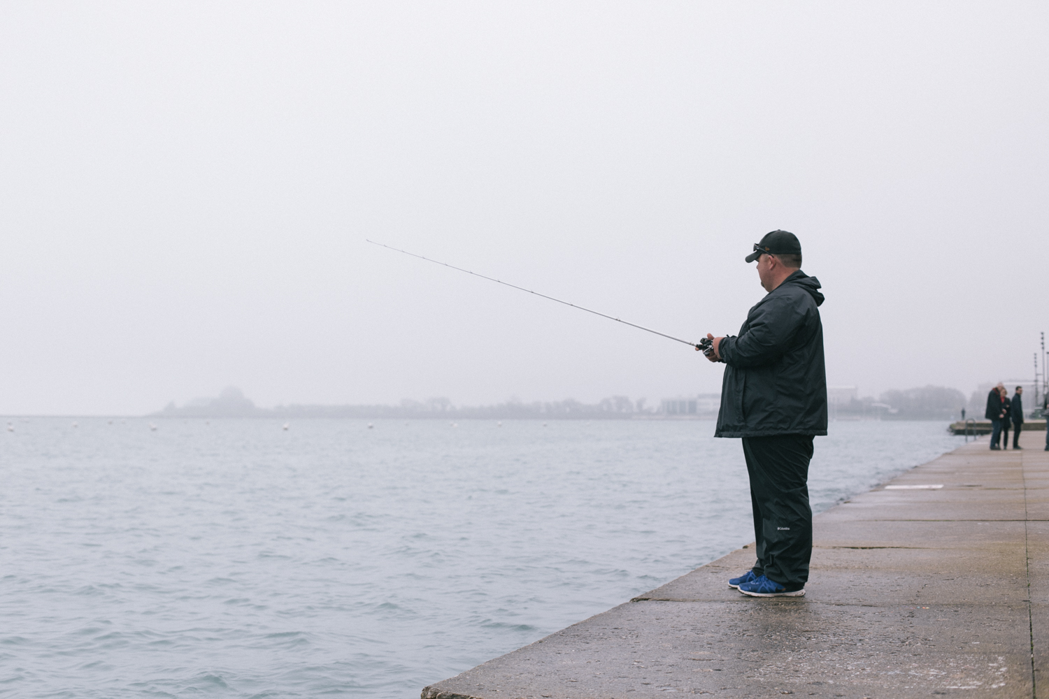 Glenn (great name) makes it down to Lake Michigan to fish for anything that will bite. He says It's just a way for him to relax. 3/24