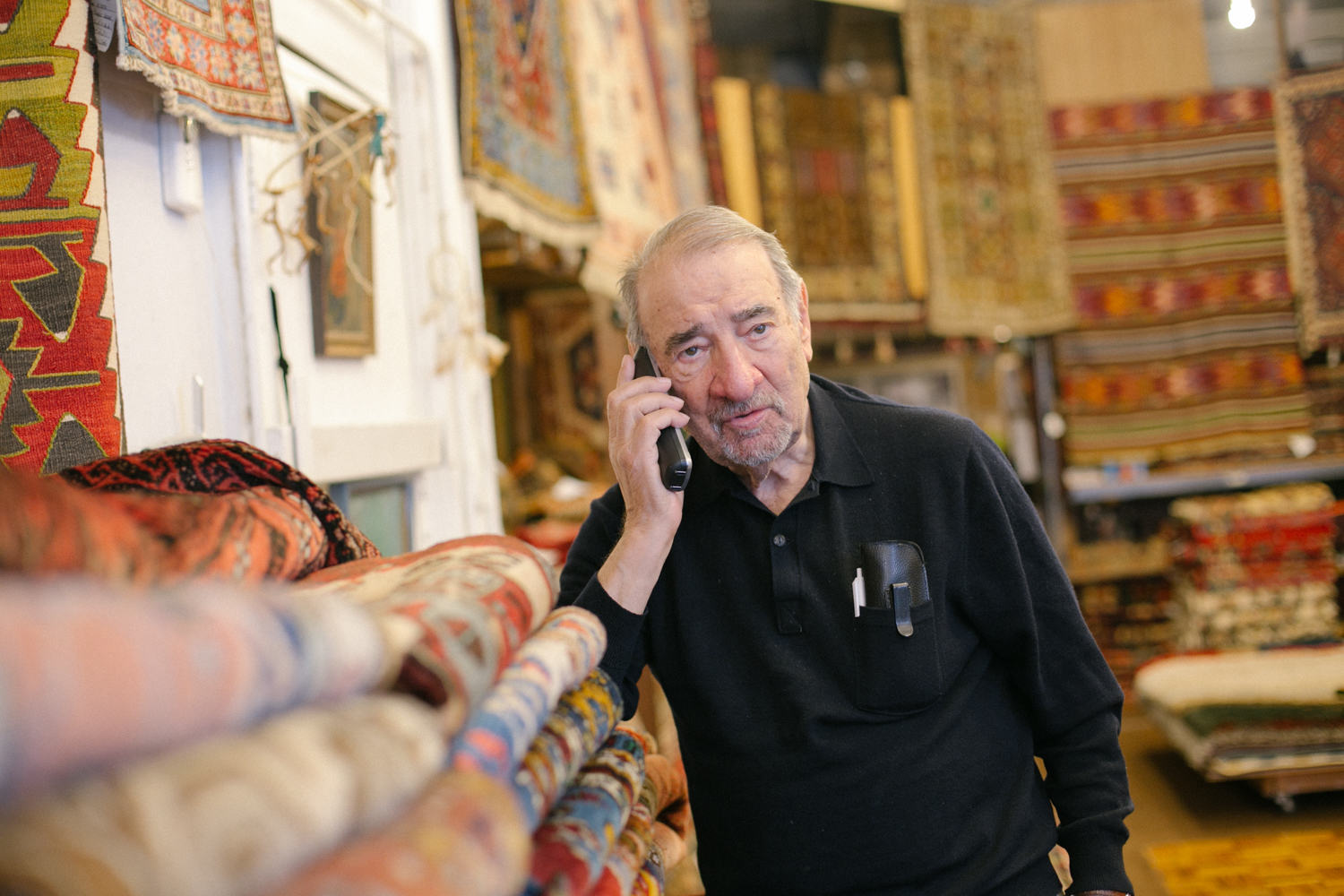 """Age is bad for the man and woman but very good for the rug,"" Ed said while talking about vintage rugs that line his shop in the Lakeview area. 7/24"