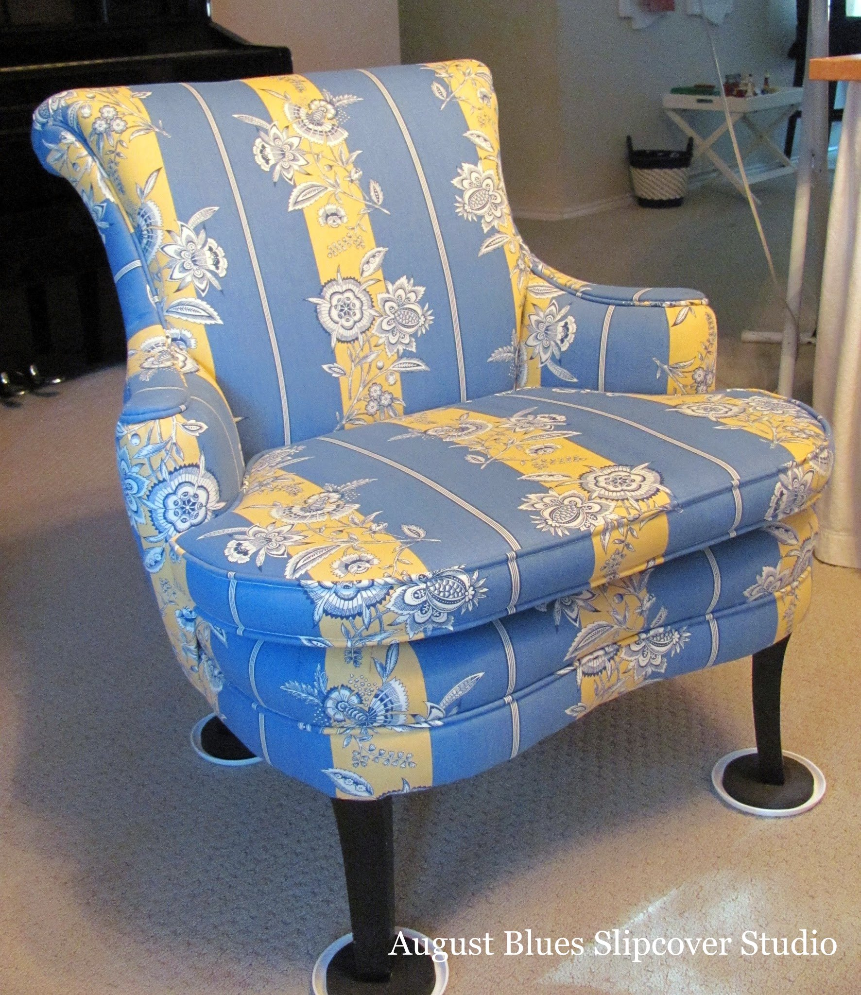 August Blues - Curvy Chair Before