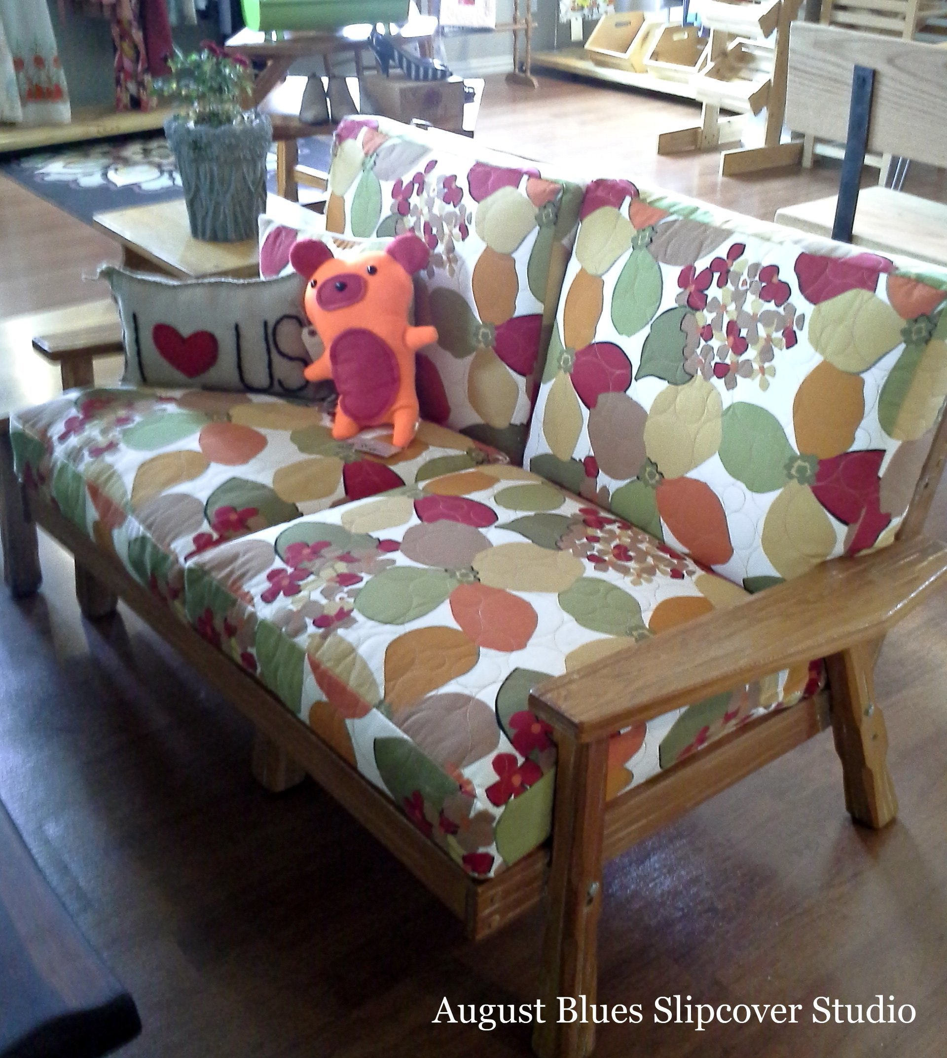 August Blues - Vintage Settee at The Dime Store
