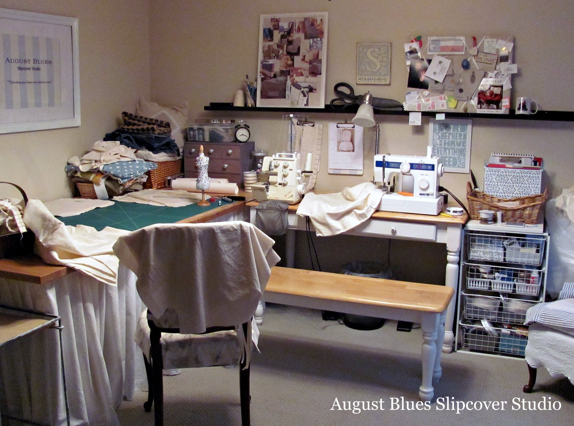 August Blues - Sewing Room IRL