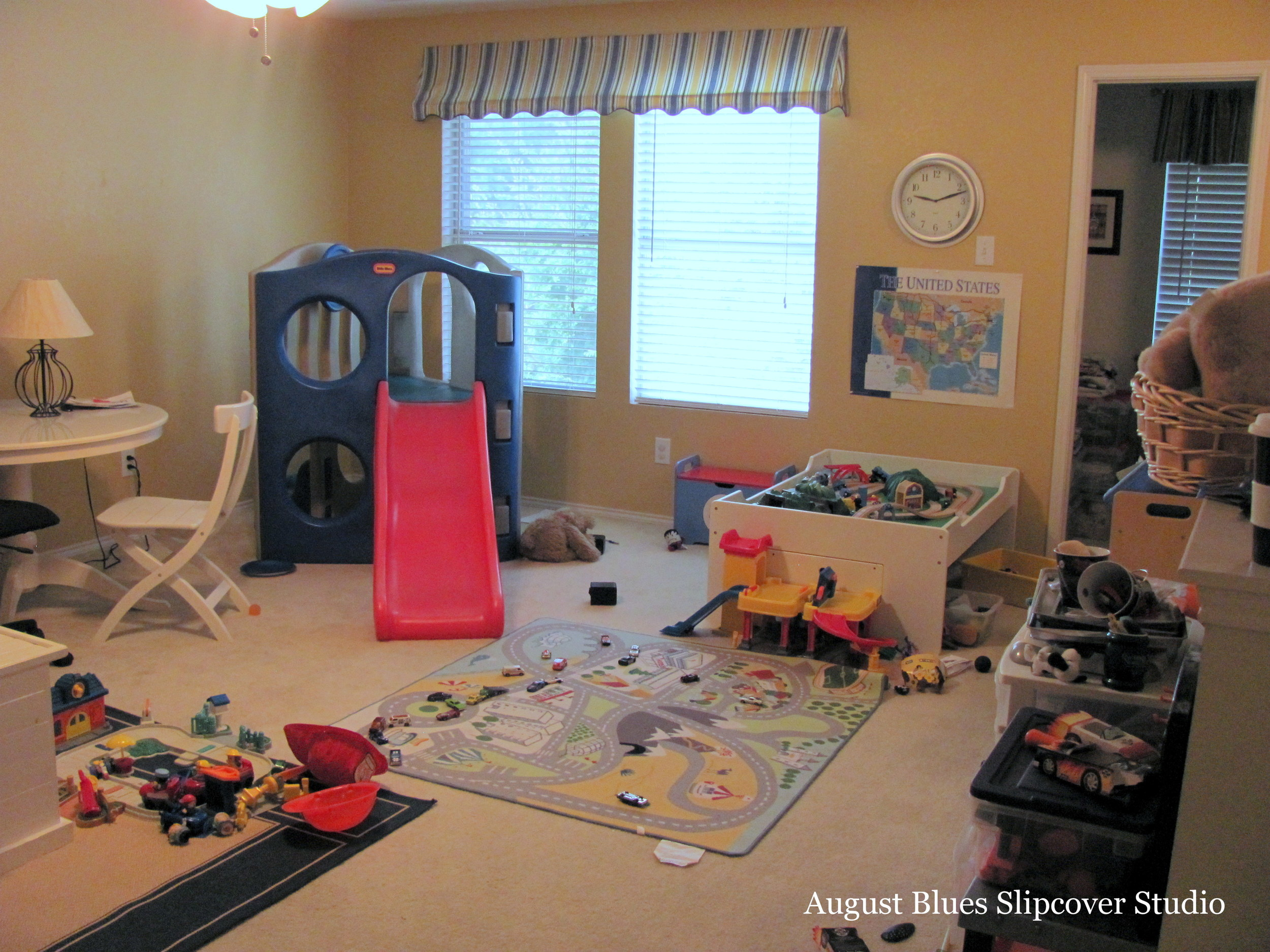 August Blues - Playroom Before