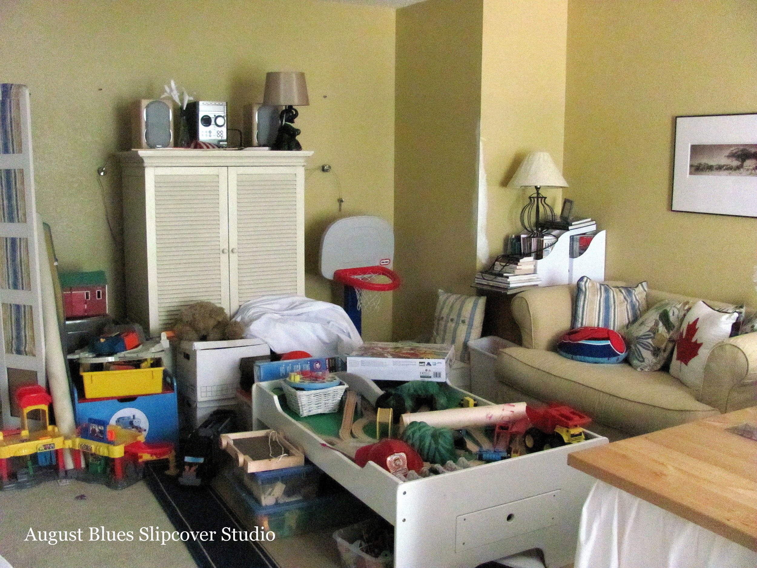 August Blues - Playroom Disorganization