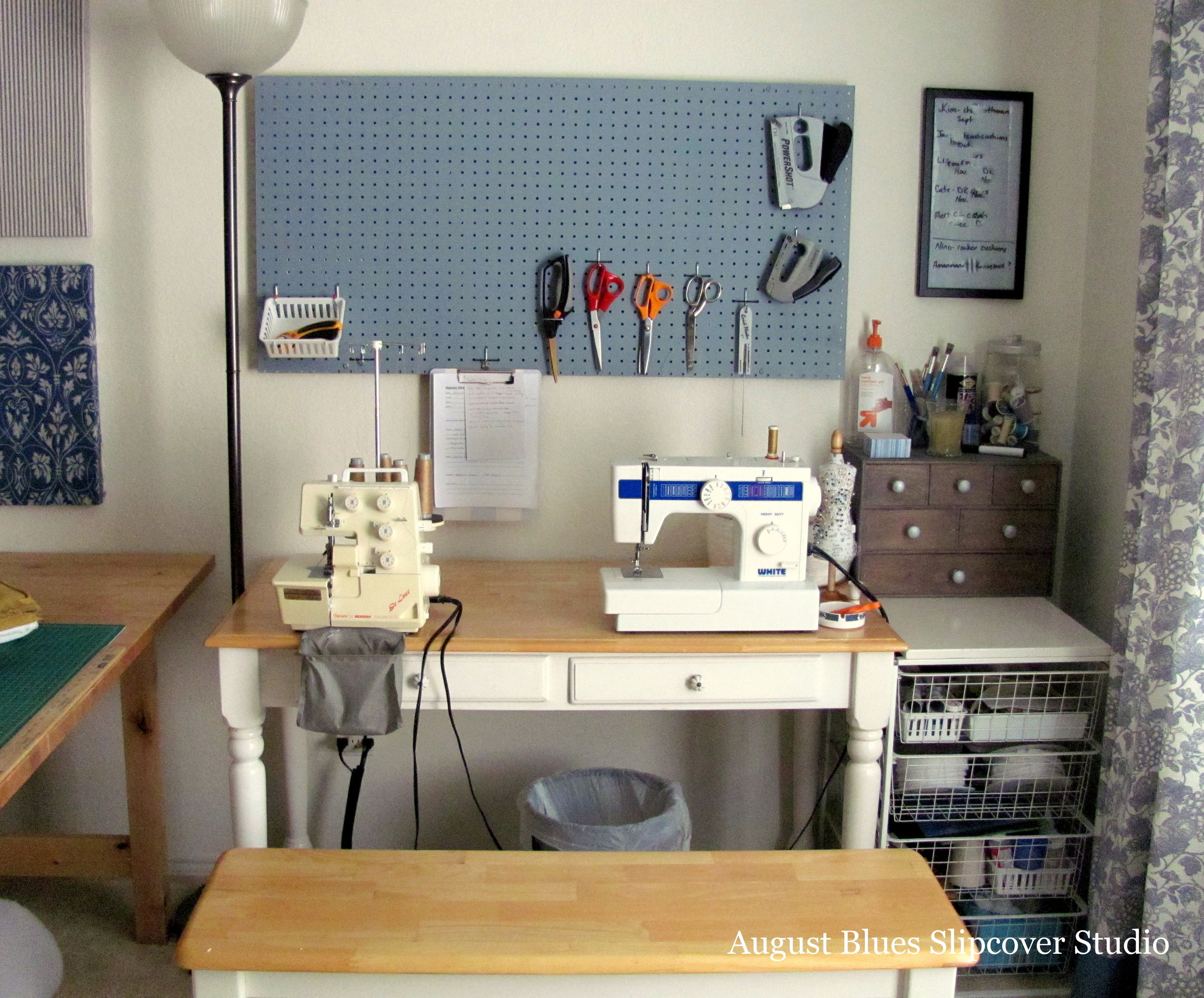 August Blues - Sewing Machine Station