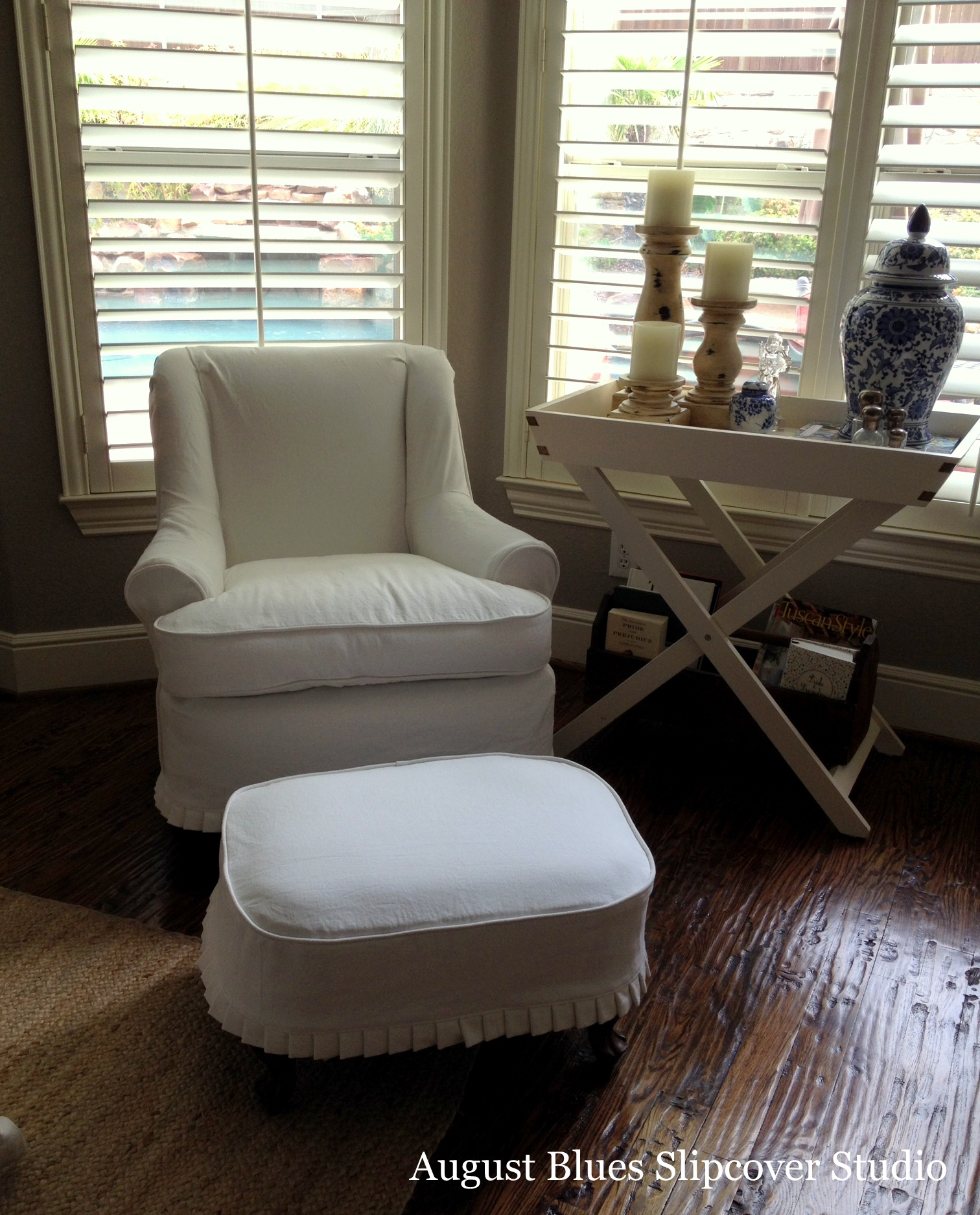 August Blues - Chair at Home