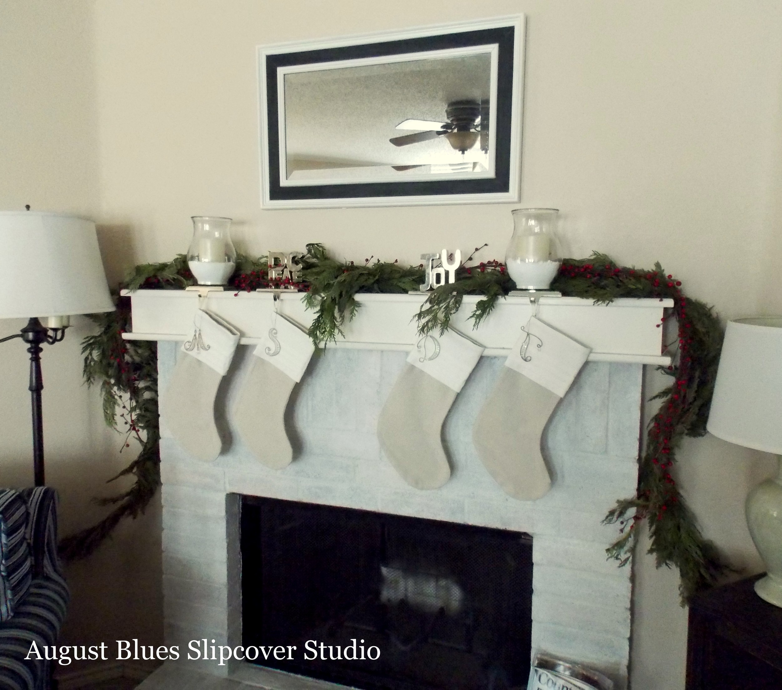 August Blues - Fireplace