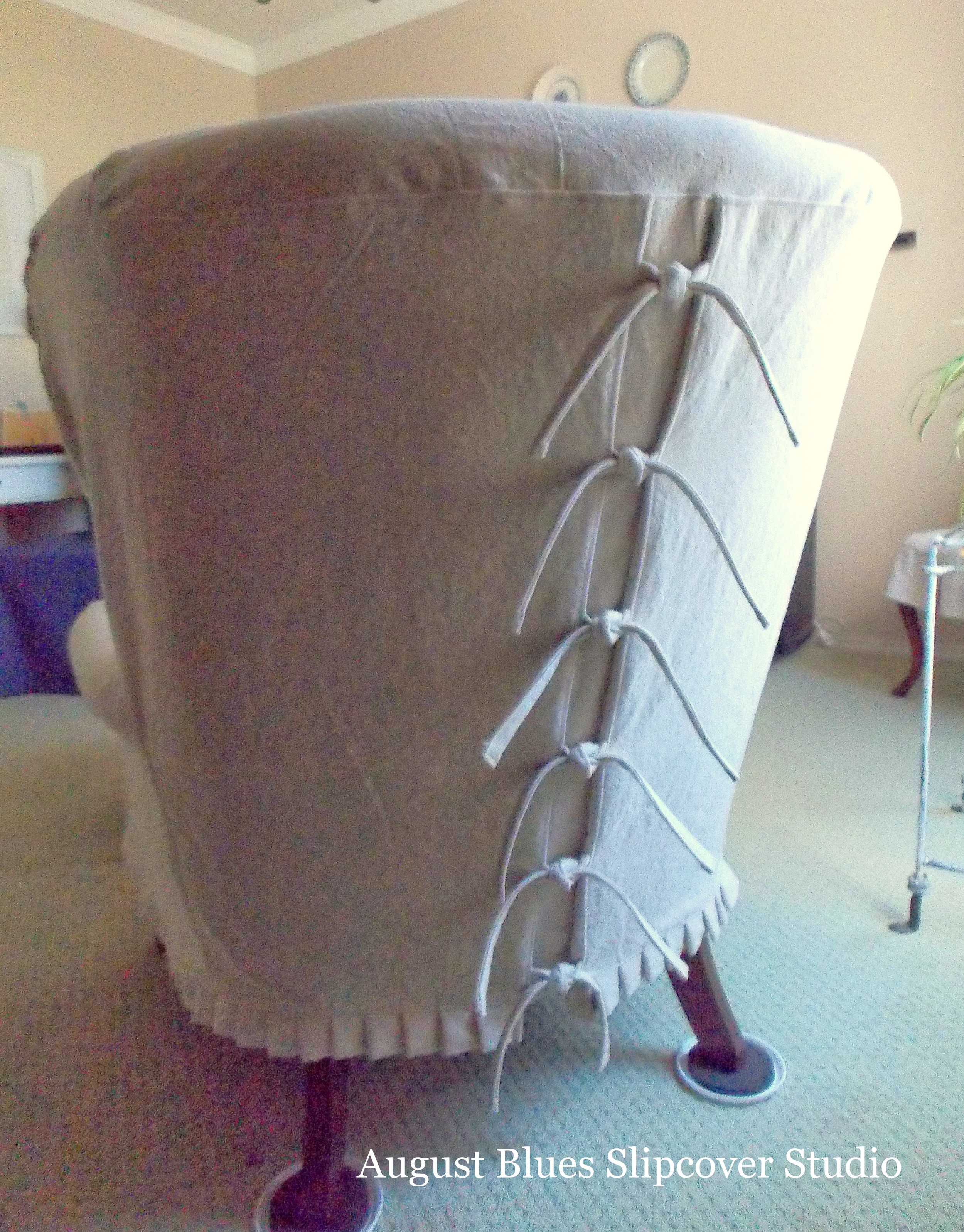 August Blues - Dropcloth Back View with ties