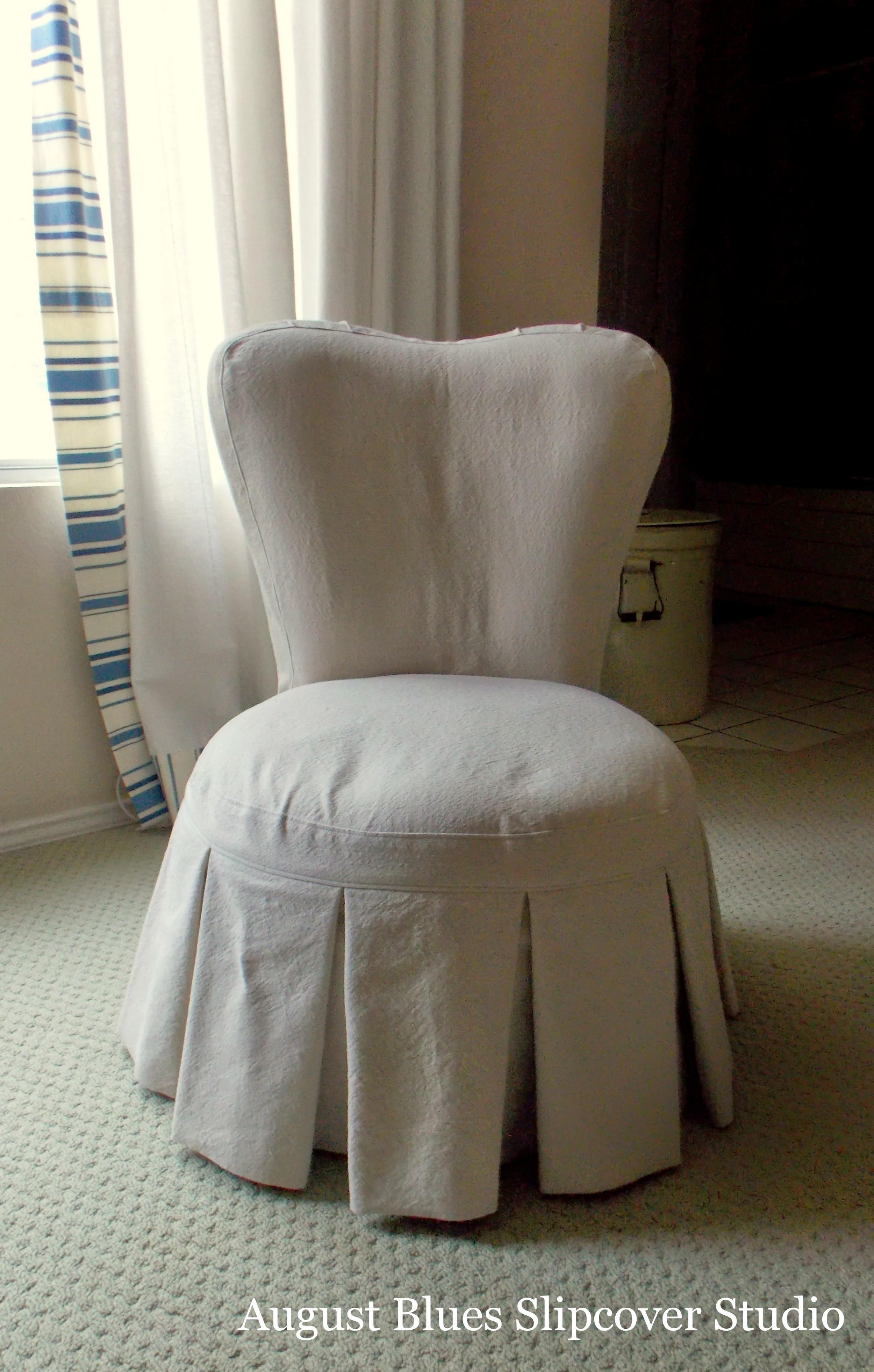 August Blues - Boudoir Chair After2