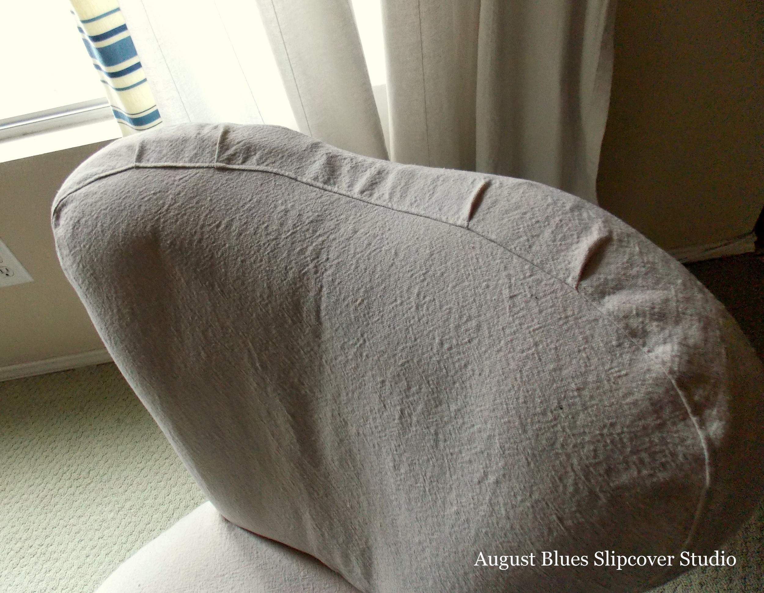 August Blues - Boudoir Chair Top