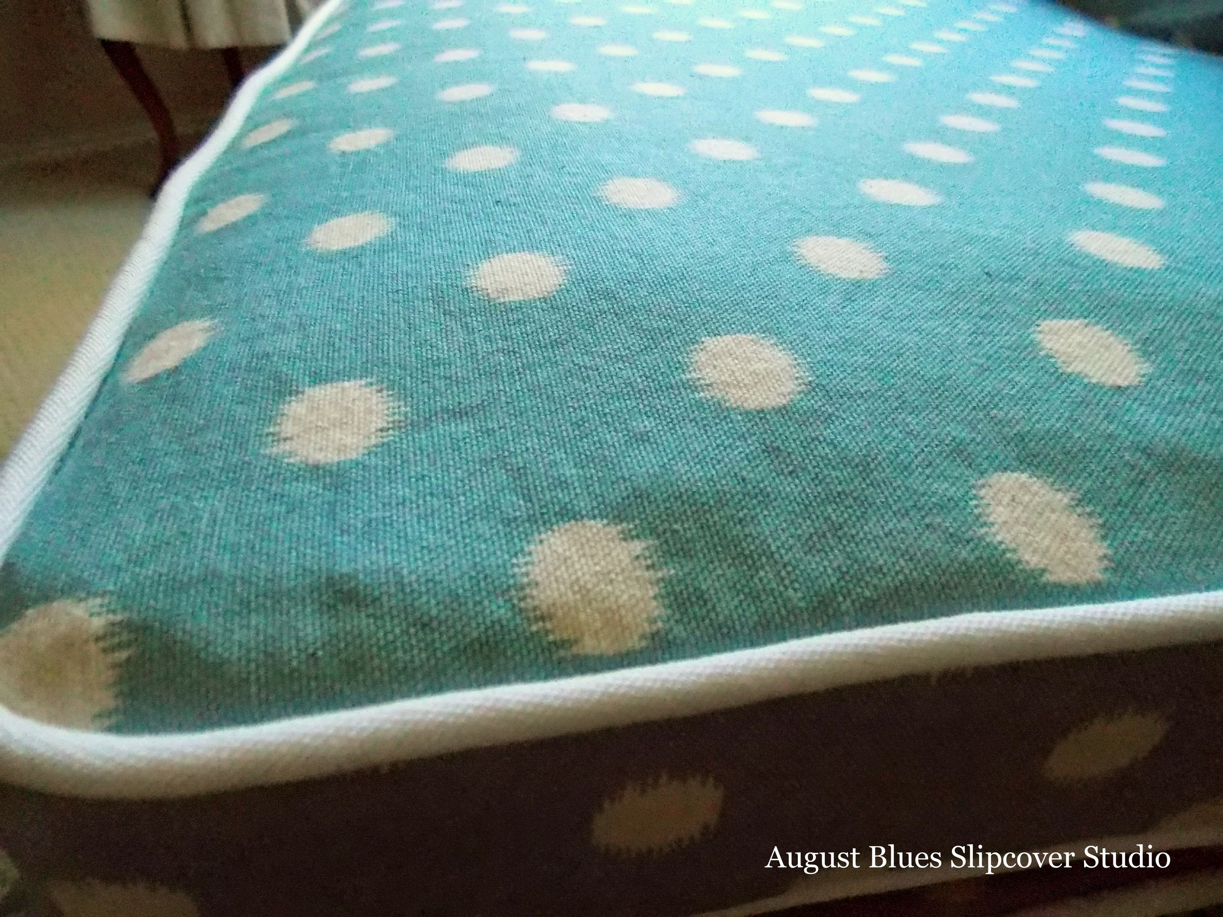 August Blues - Polka Dots Close-up