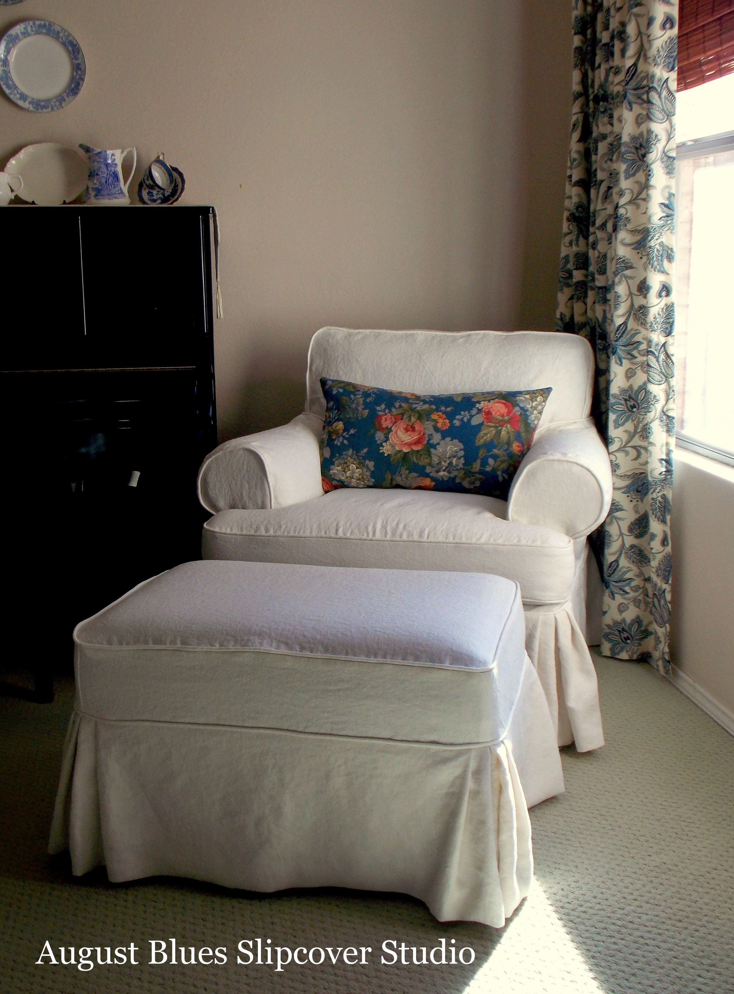 August Blues - Linen Slipcover After2