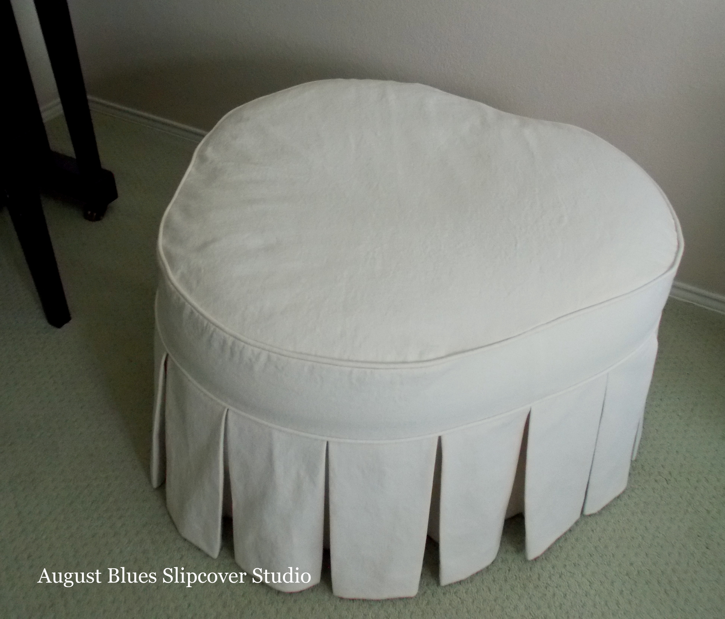 August Blues - Ottoman Top View