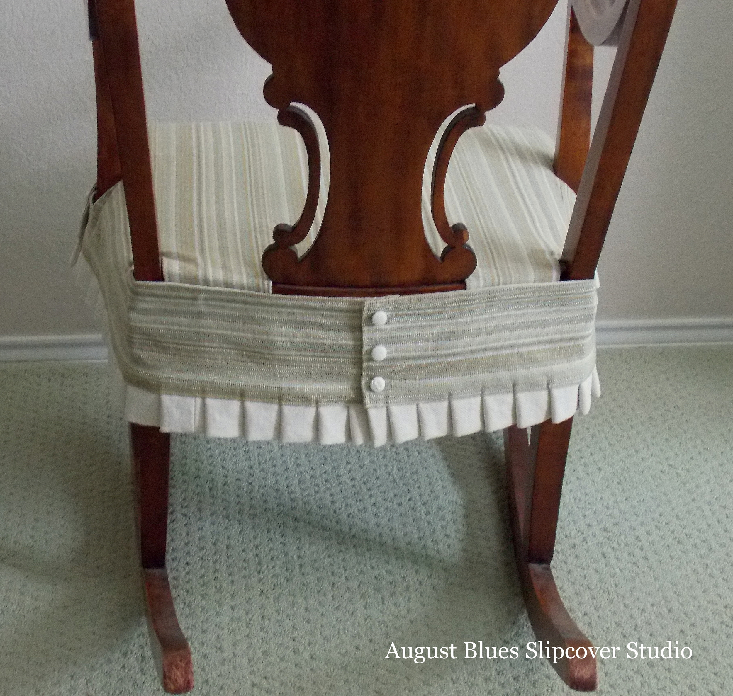 August Blues - Rocking Chair Back Details