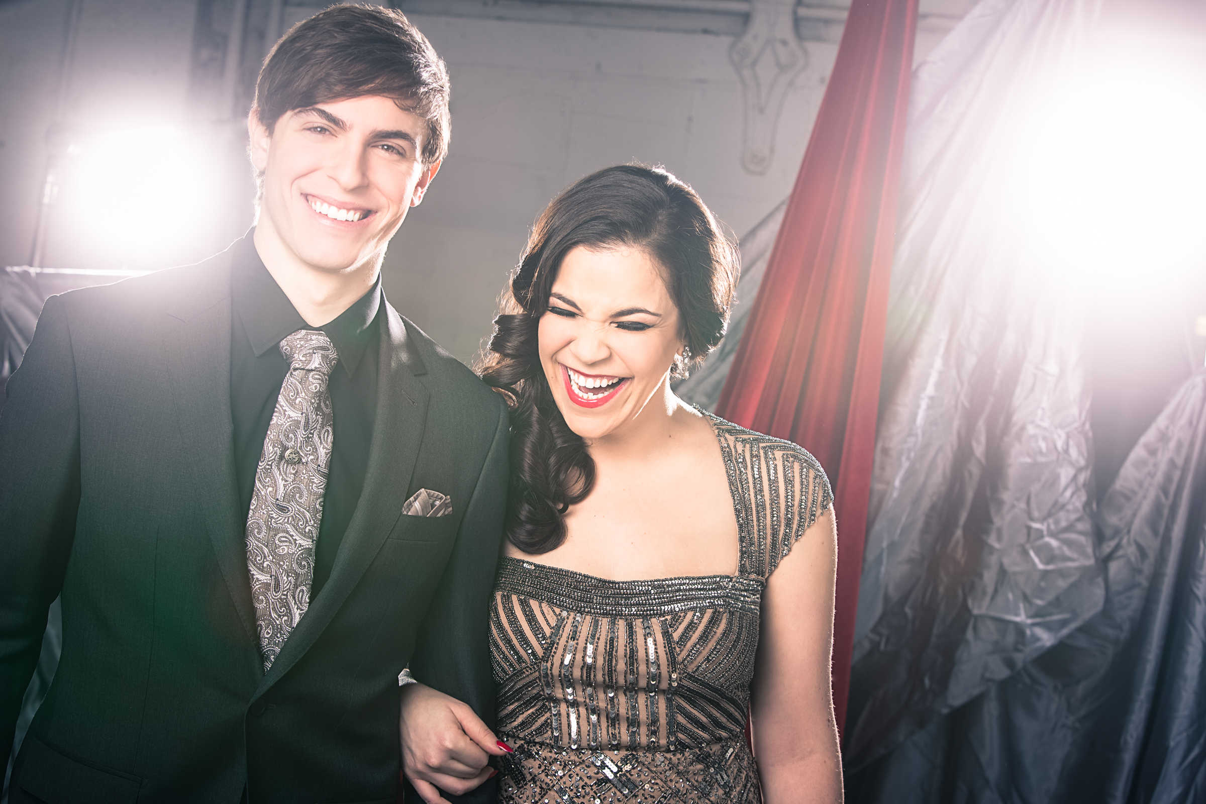 Derek Klena and Lindsay Mendez