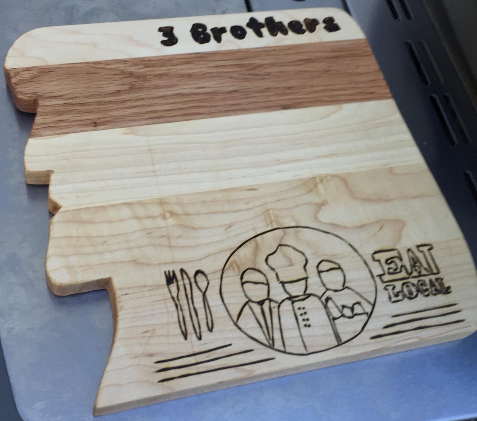 Three Brothers Marketplace Cutting Board