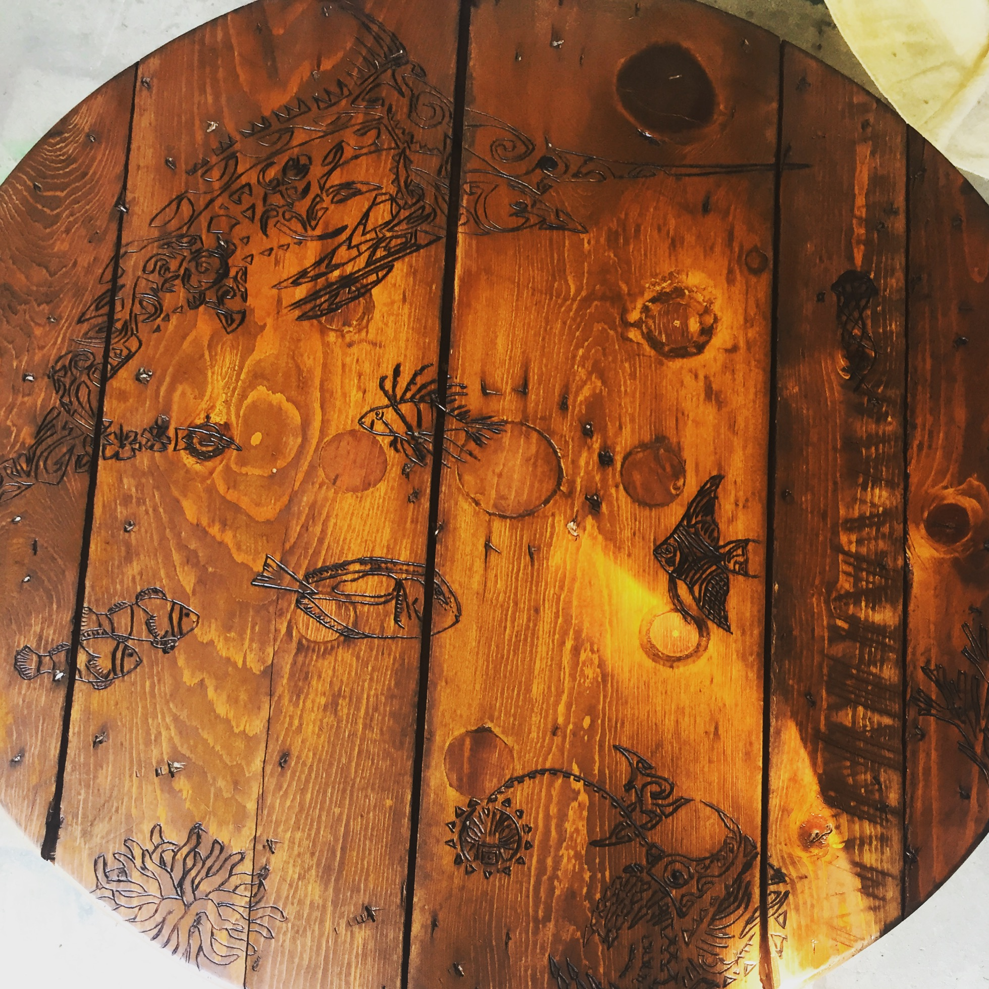 Nautical Themed Spool Table