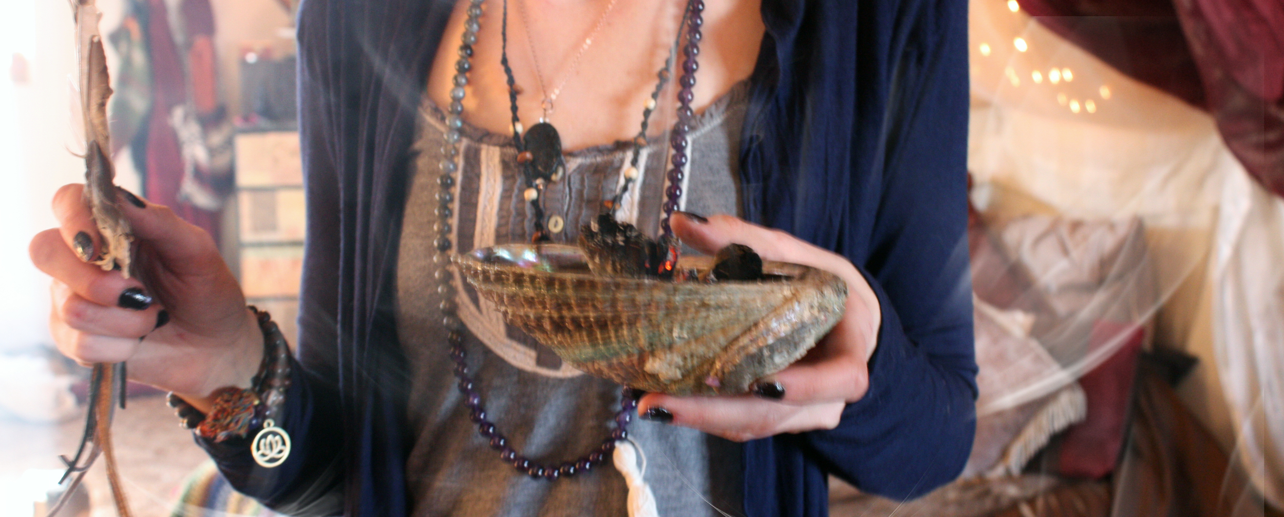 Smudging With Sage Ritual