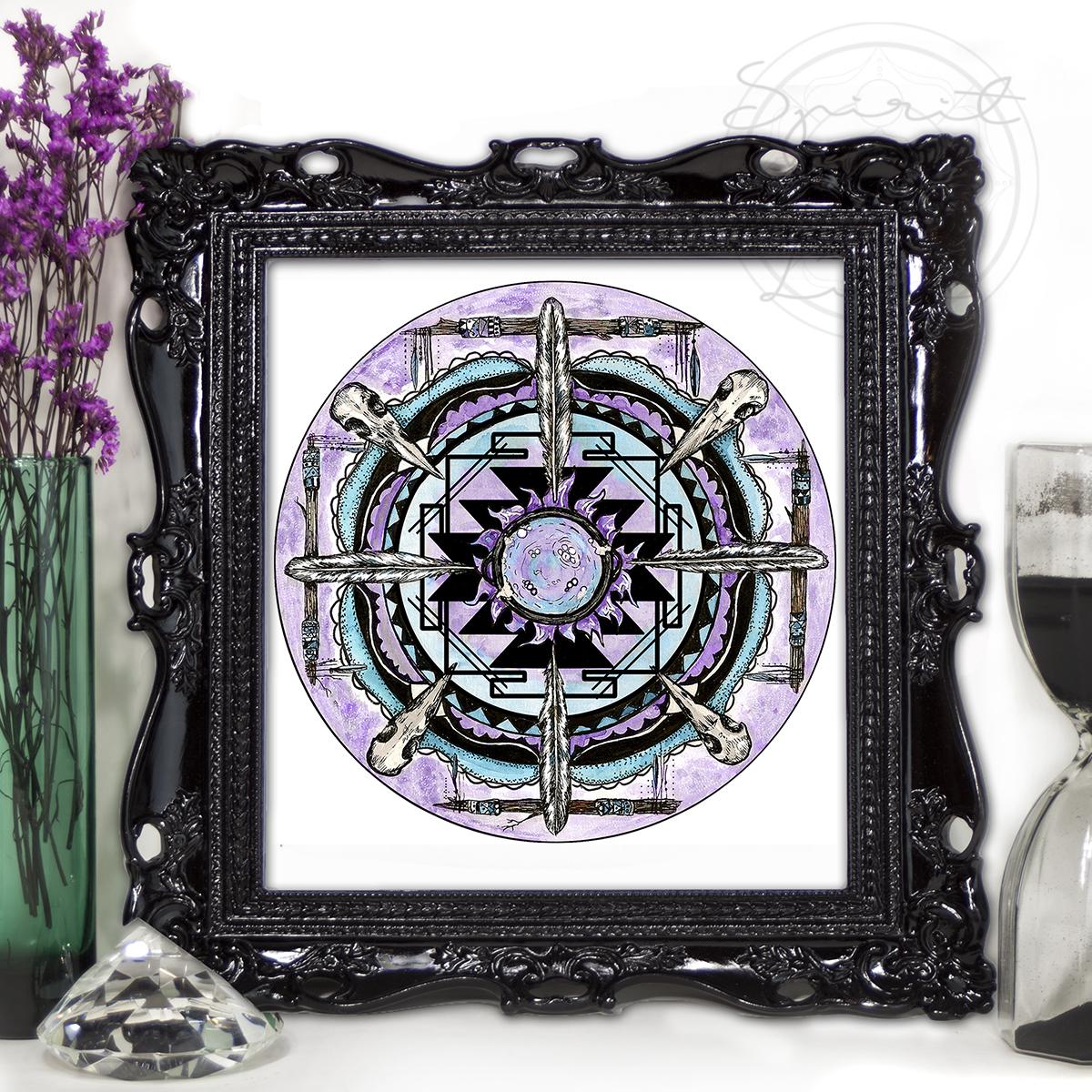 Crone Moon Mandala | Spirit de la Lune