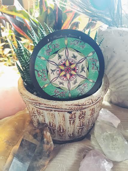 Planting Moon Mandala Card | Spirit de la Lune