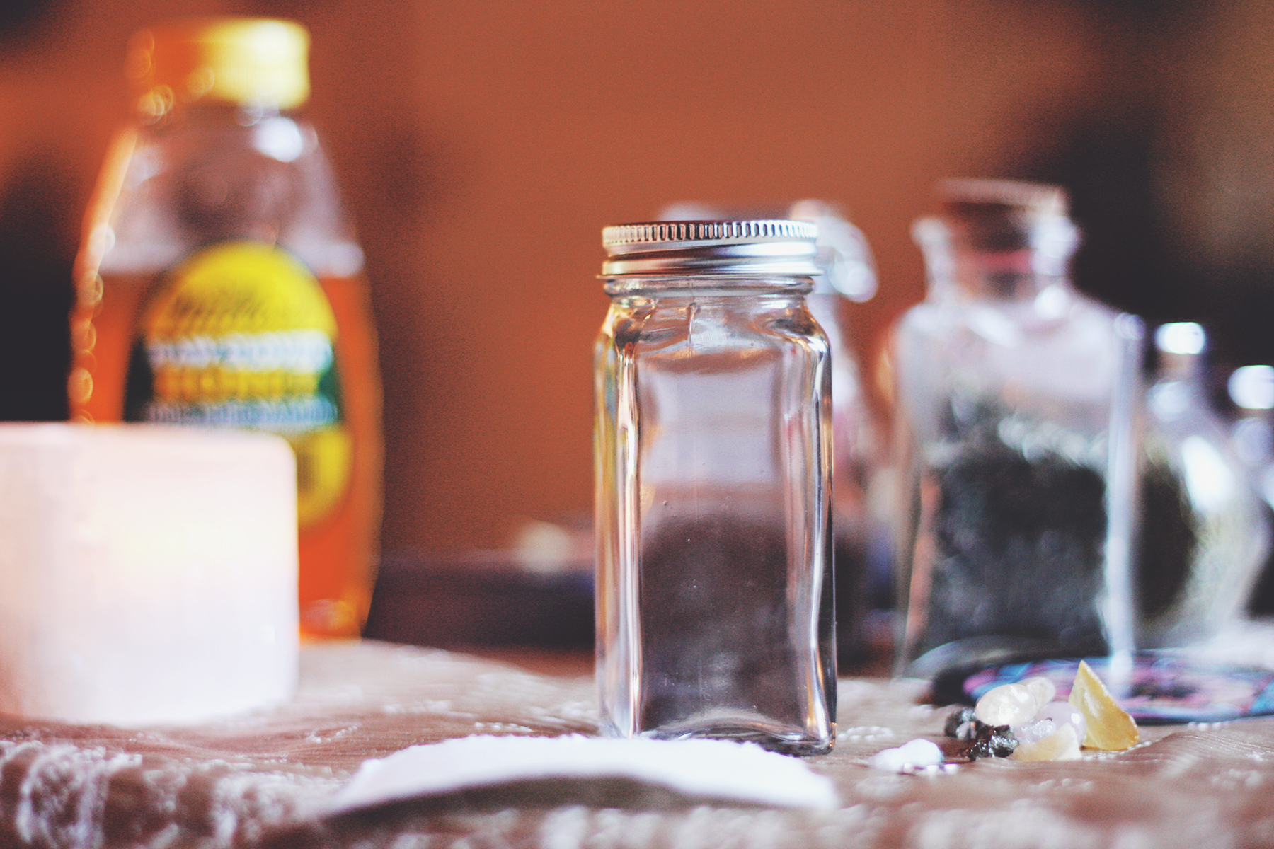 Gathering supplies for the Honey Jar | Spirit de la Lune