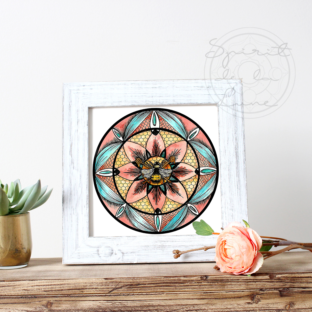 Your favorite moondala or moon phase art print makes a fantastic altar piece!  Shop now!