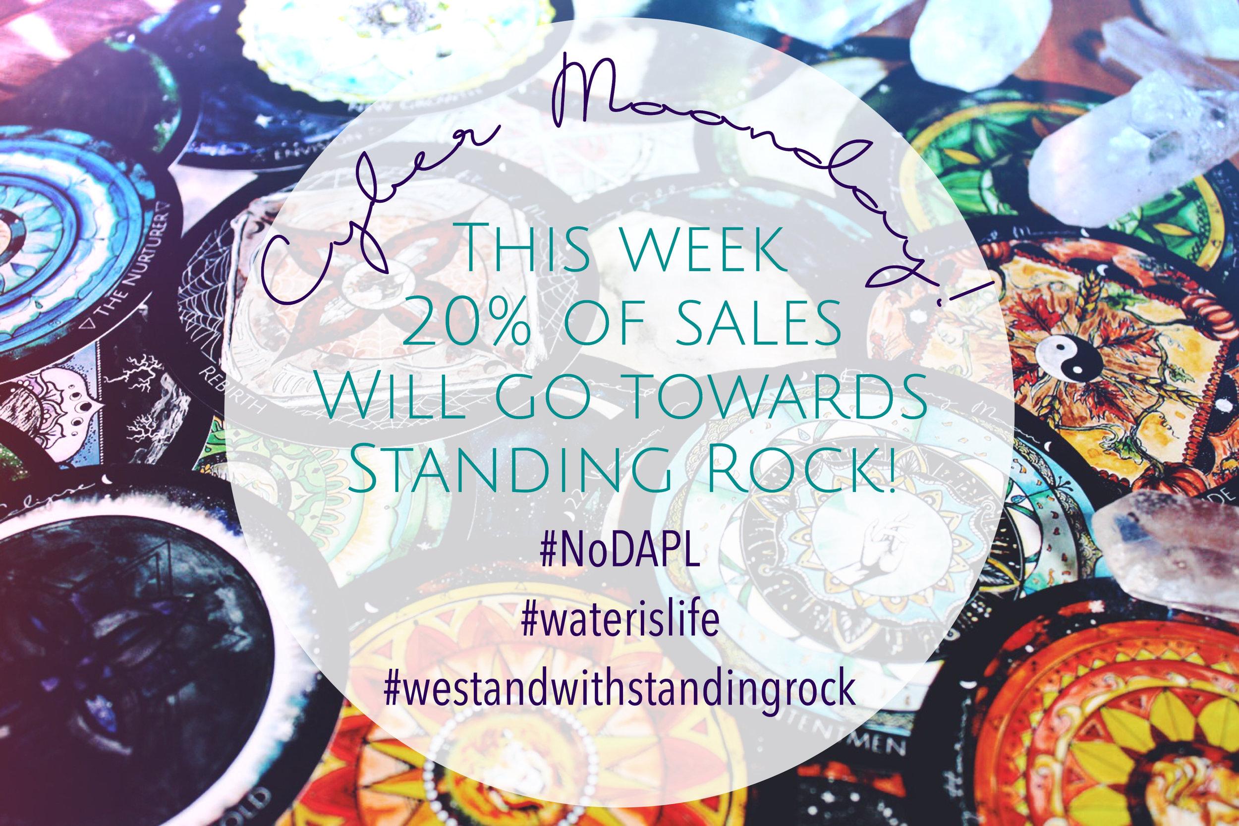 Spirit de la Lune Stands with Standing Rock