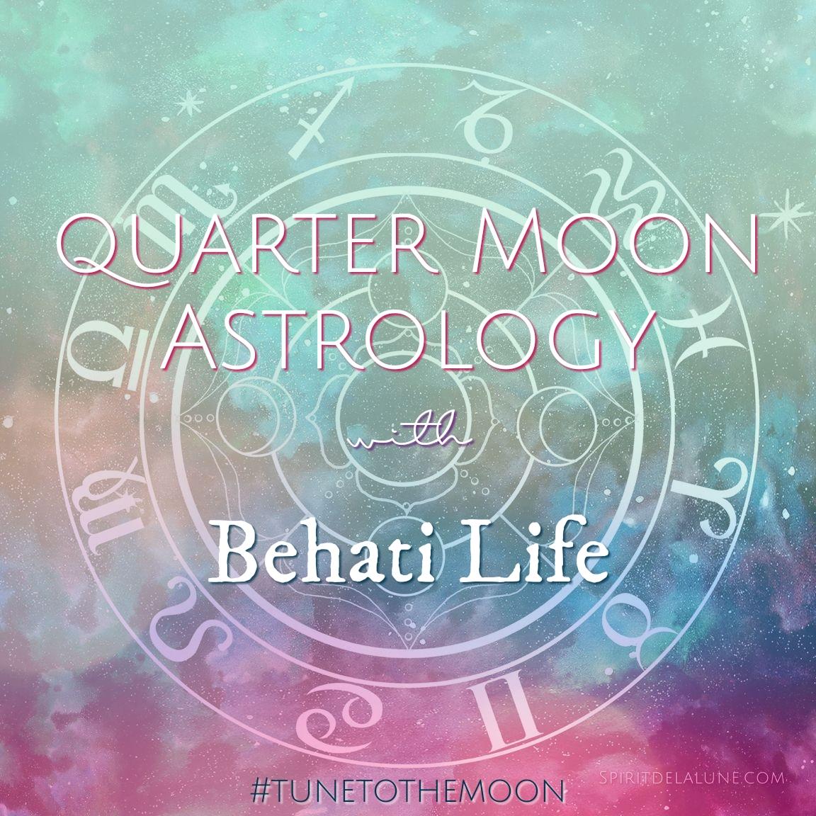 Quarter Moon Astrology - Spirit de la lune