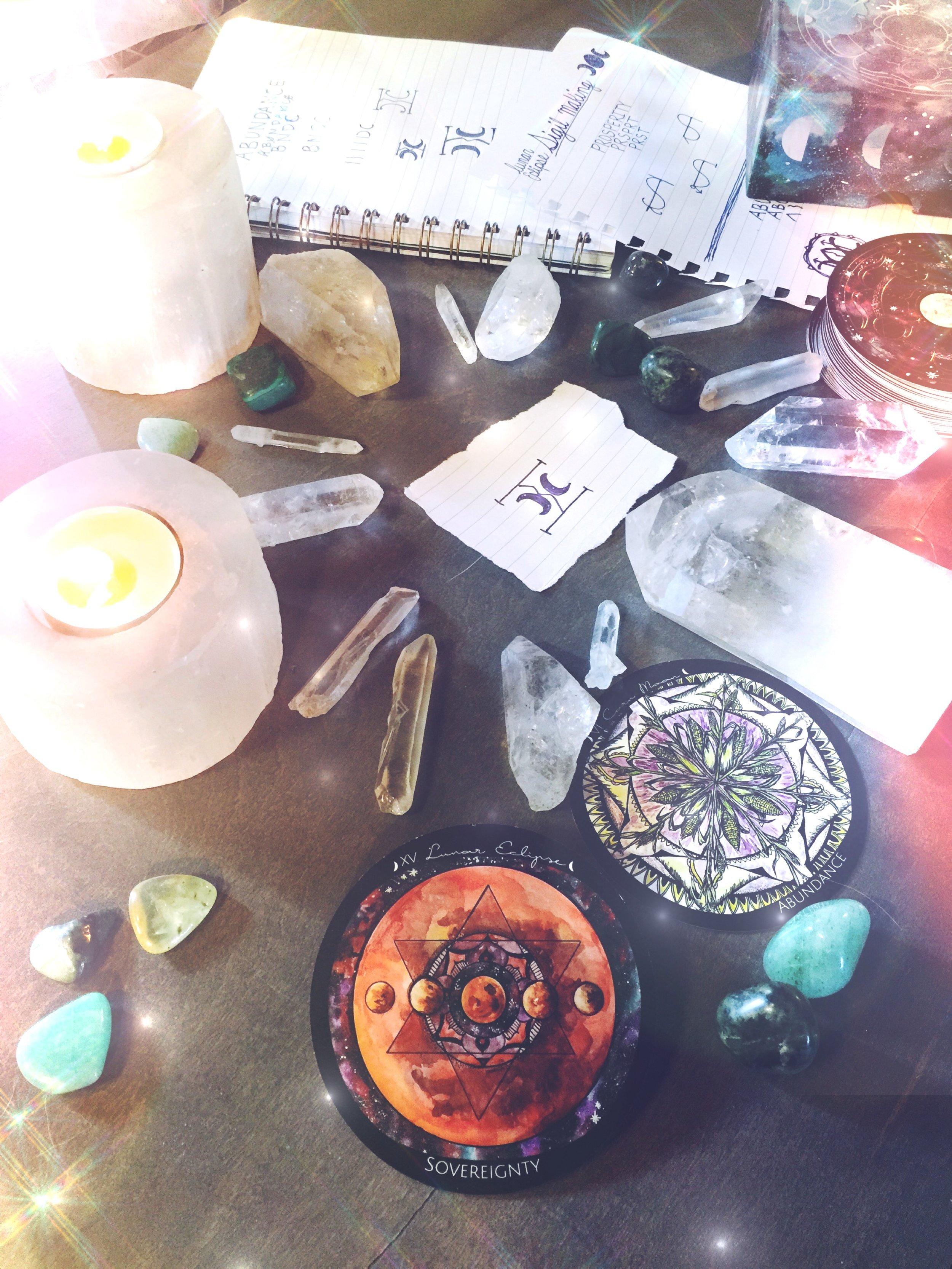 Lunar Eclipse Sigil Magick | Spirit de la Lune