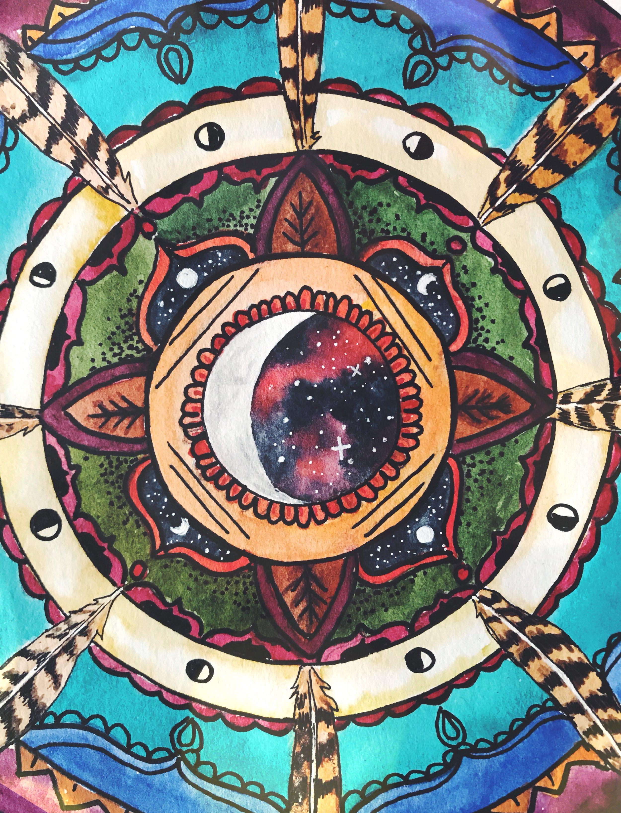 Create your own Moondala Mandala | Spirit de la Lune