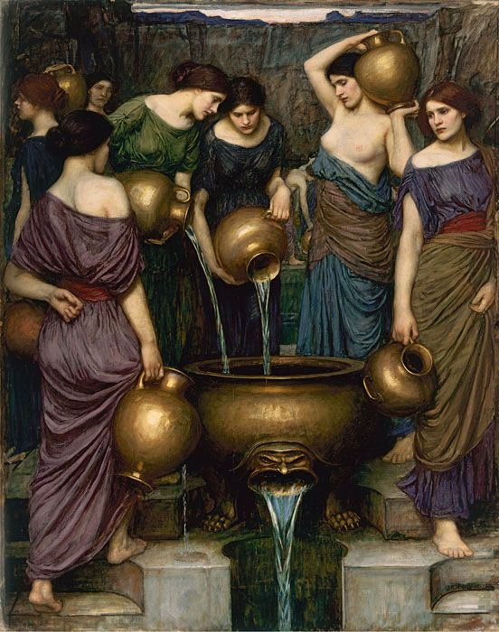 The Danaides. John William Waterhouse. 1888