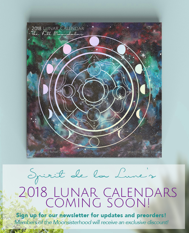 Spirit de la Lune 2018 calendars coming soon