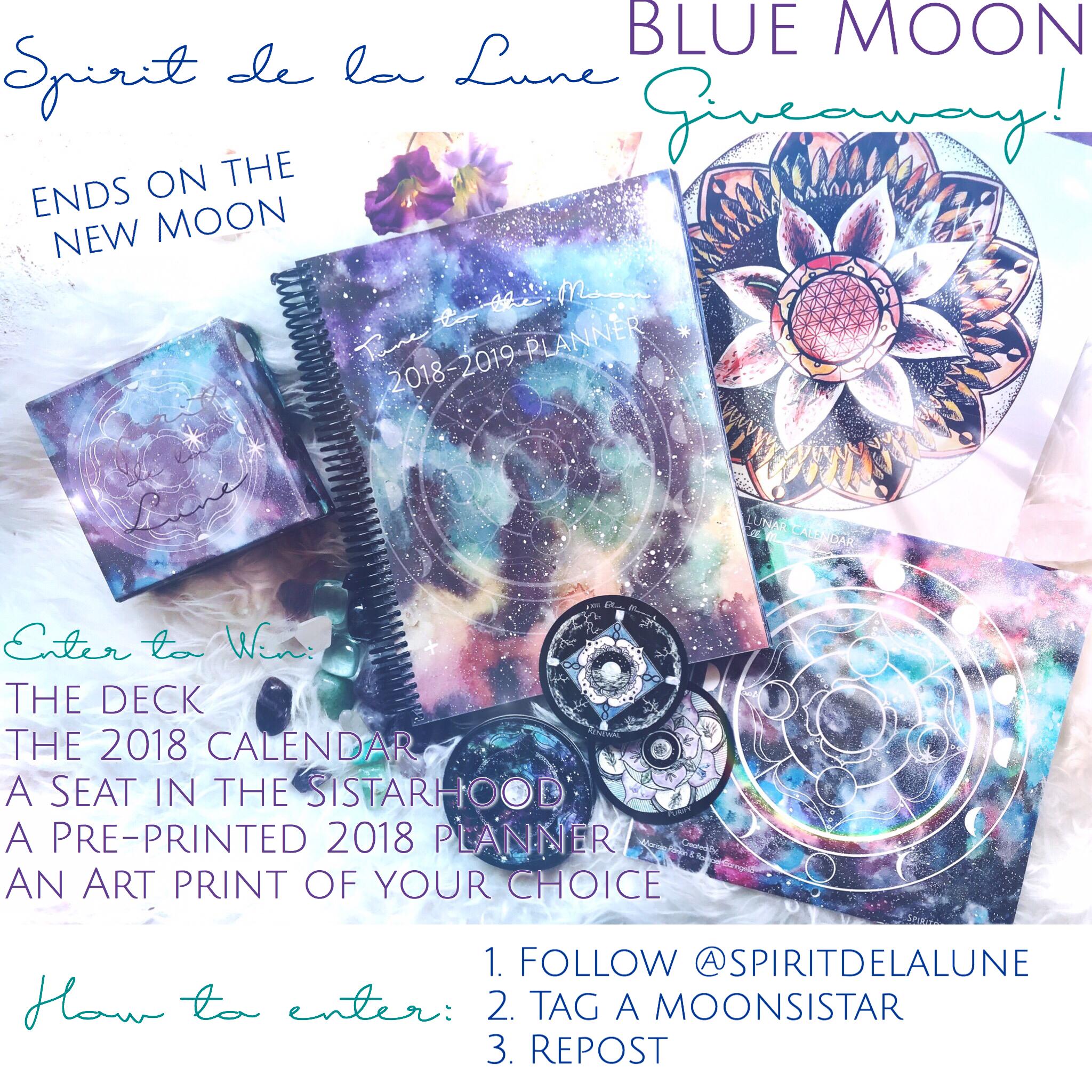 Blue Moon Giveaway | Spirit de la Lune