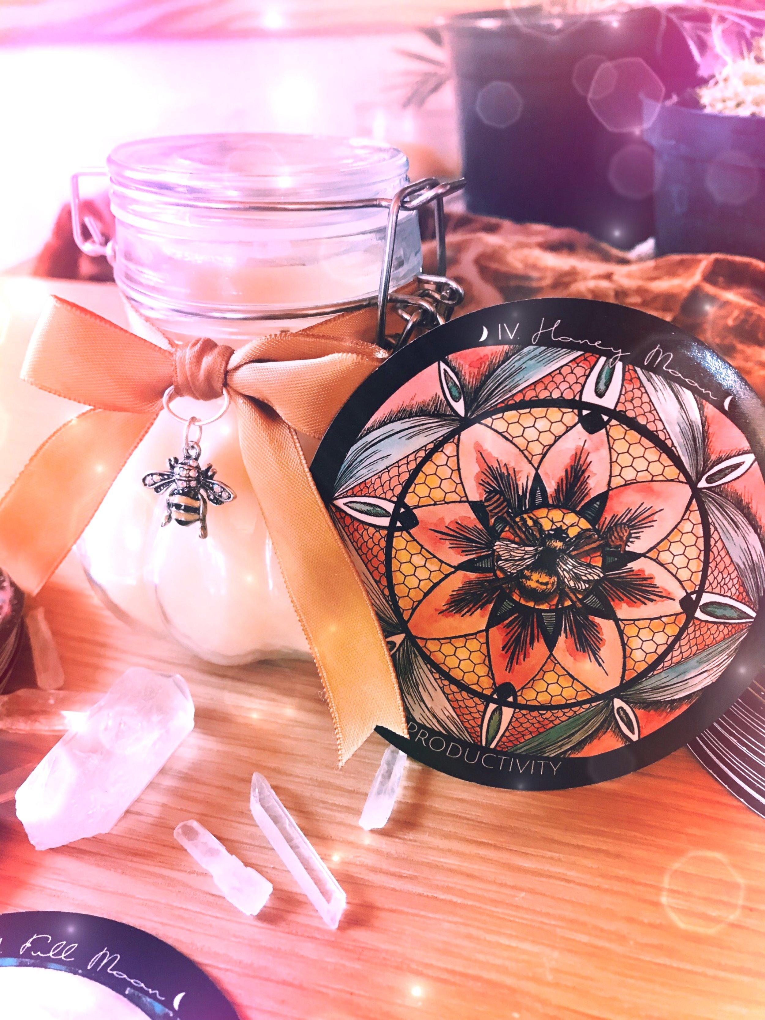 Spirit de la Lune Beeswax Candle Making Honey Moon Ritual
