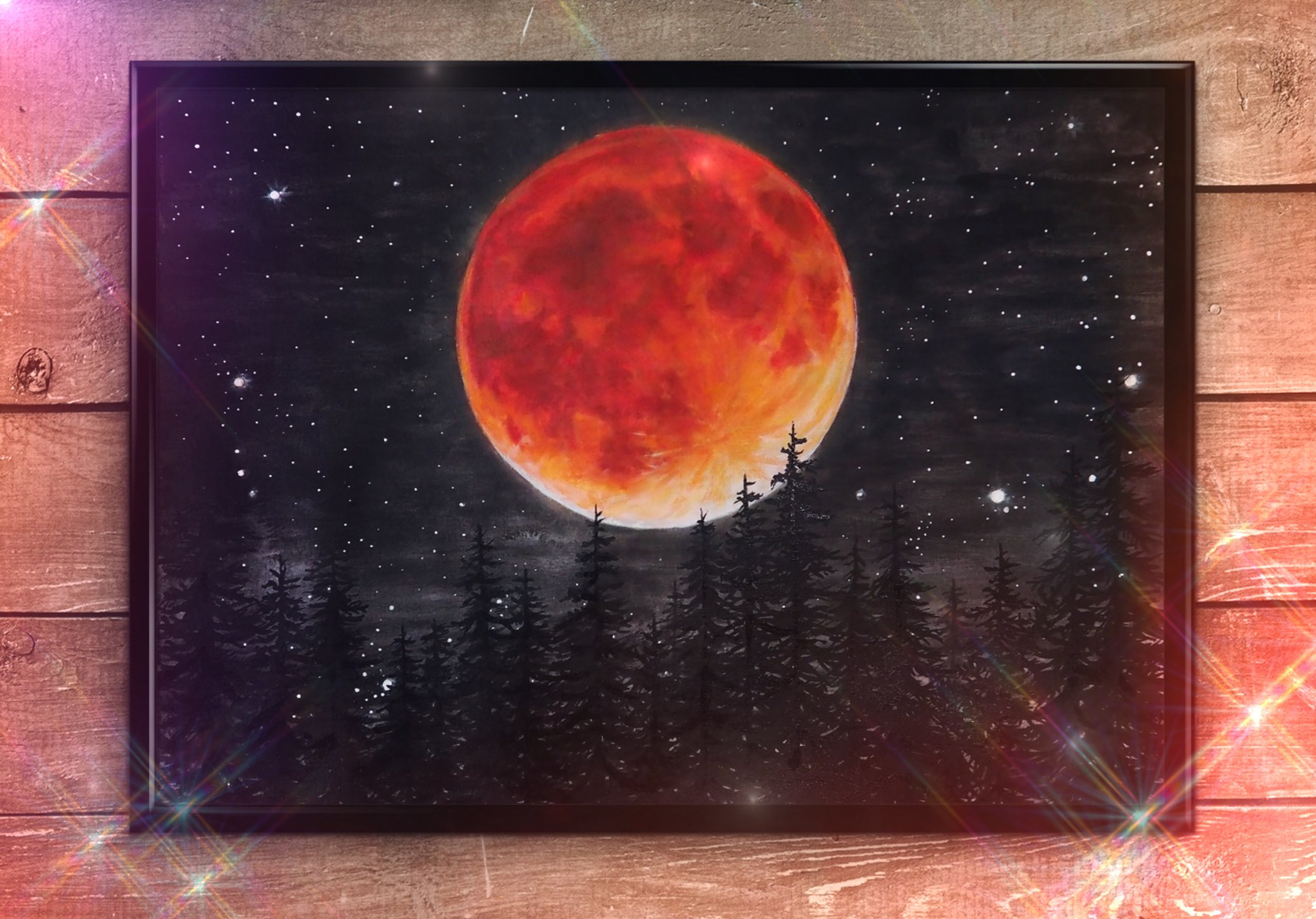 Lunar Eclipse By Rachael Caringella | Tree Talker Art