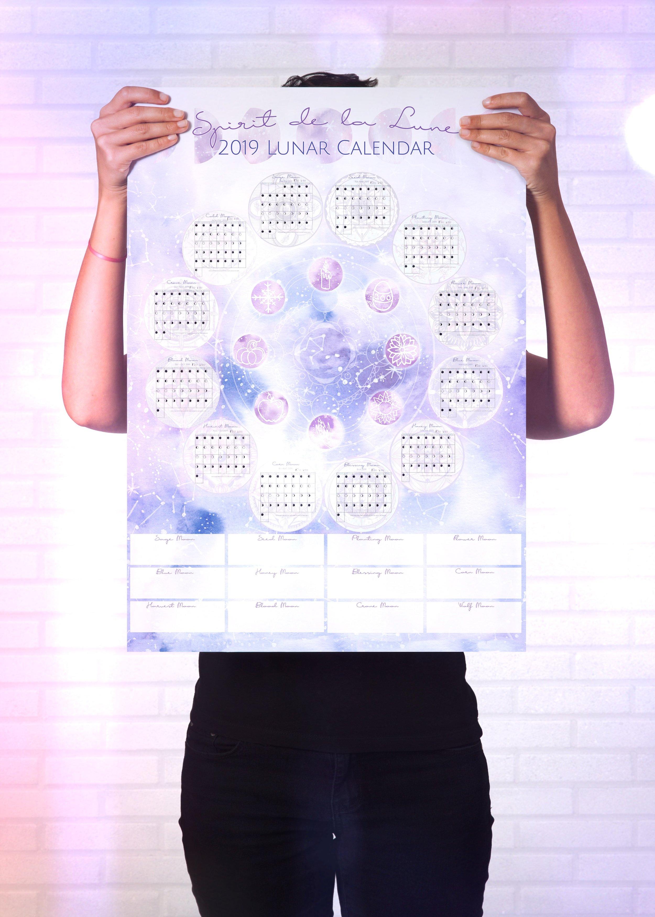 Spirit de la Lune 2019 Planner Mockup Calendar