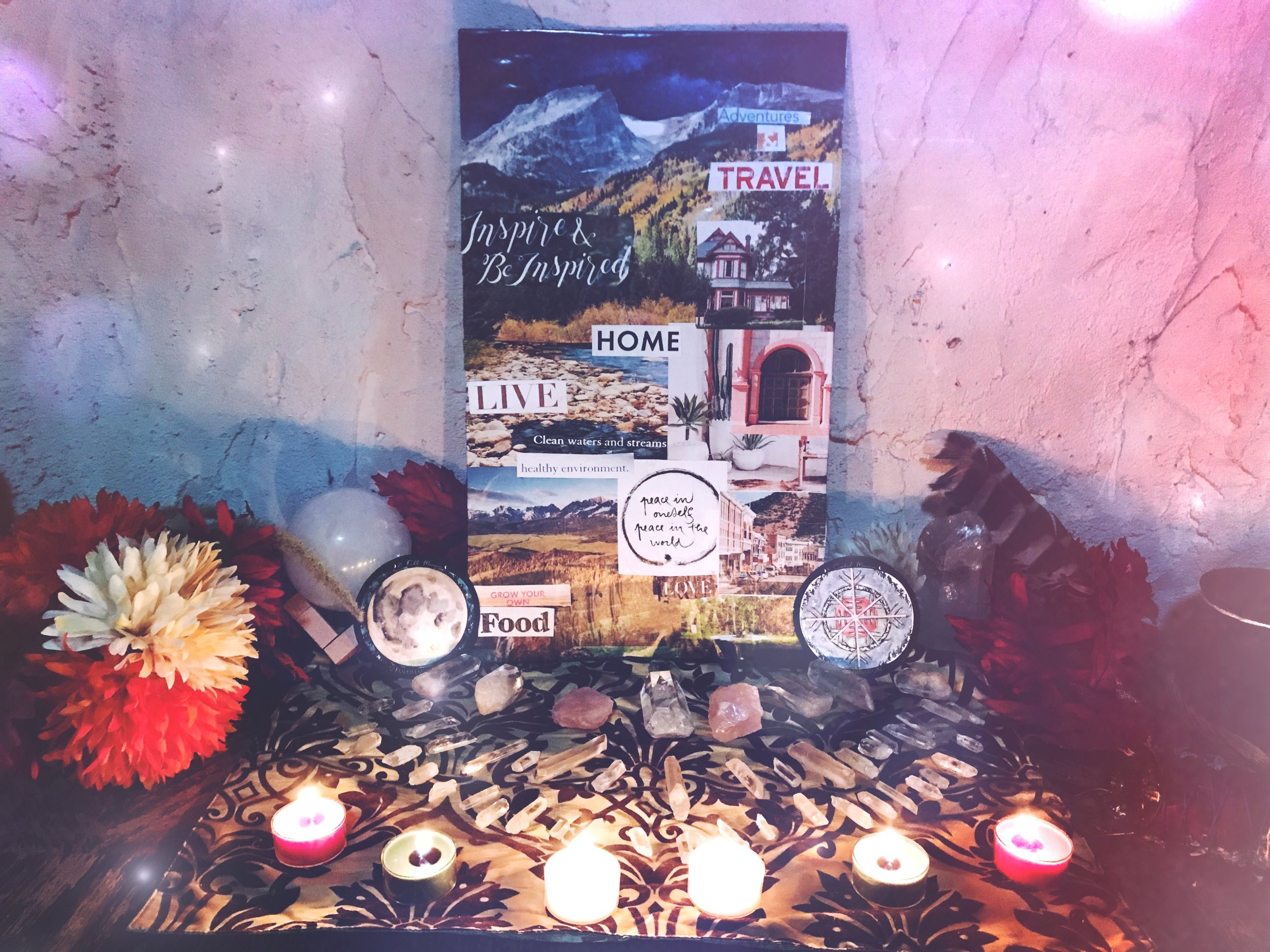 Spirit de la Lune Full Cold Moon Vision Board Magic Ritual
