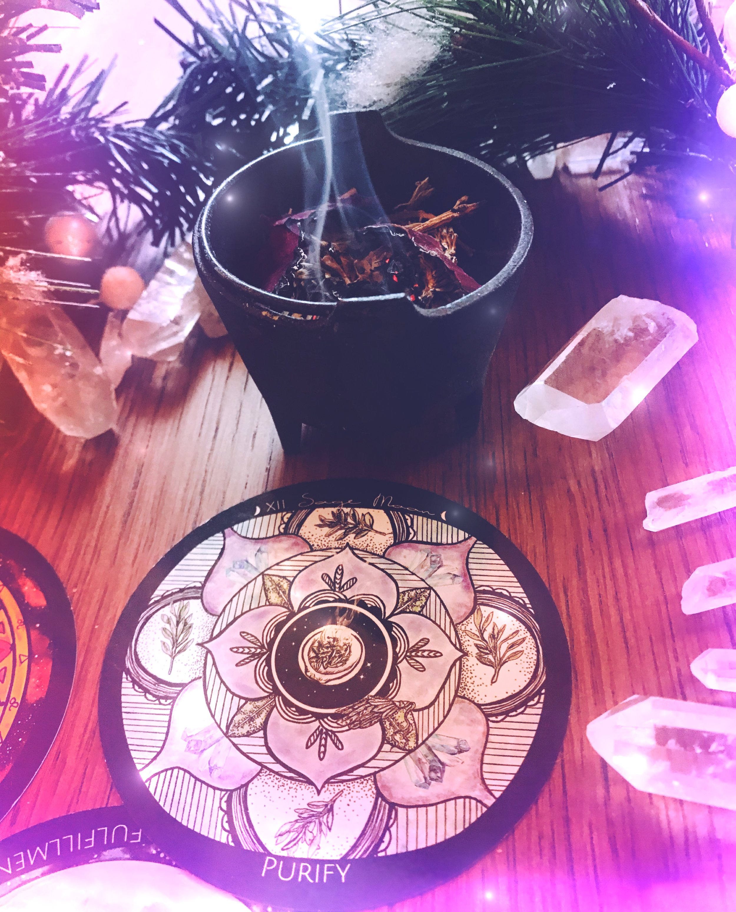 Spirit de la Lune Full Super Moon Eclipse Intention Incense Ritual