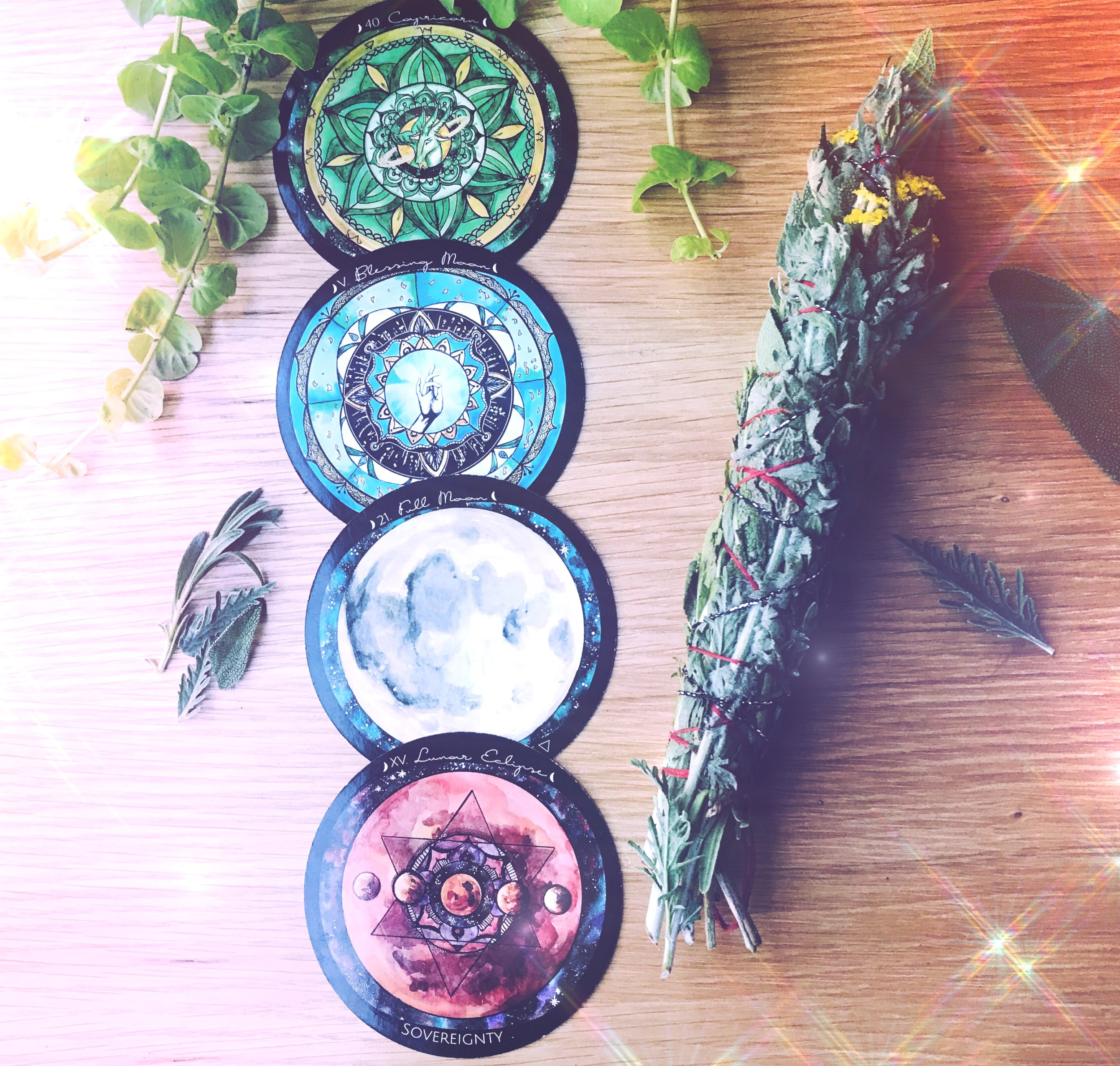 A Full Blessing Moon Eclipse Ritual | Create Your Own Sacred Smudge wand