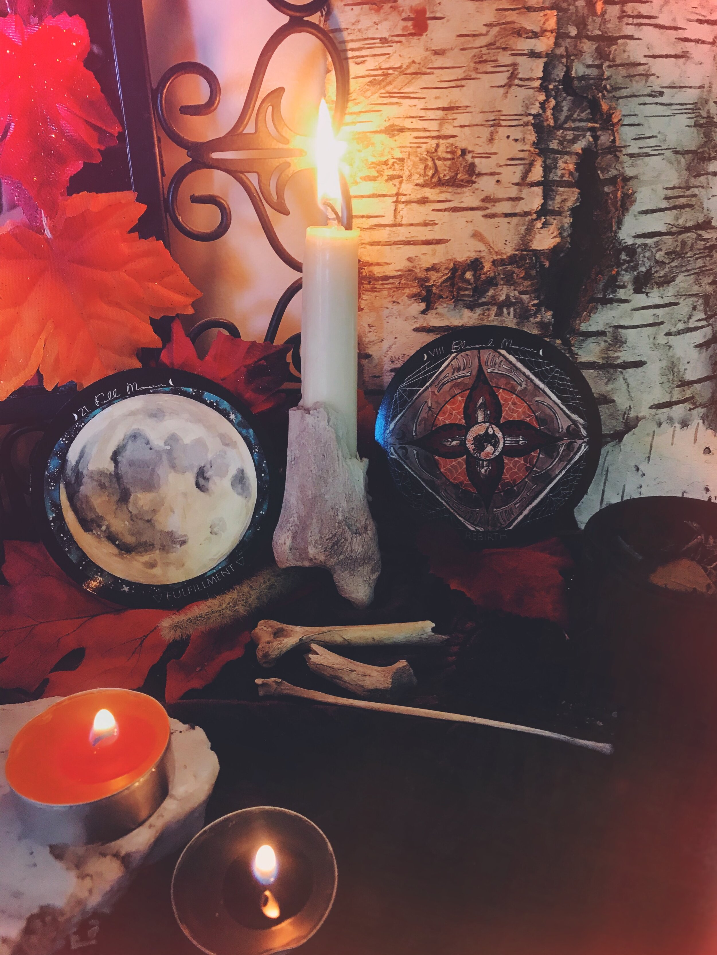 Full Blood Moon in Aries Spell to Summon the Spirit of your loved ones and ancestors for Samhain