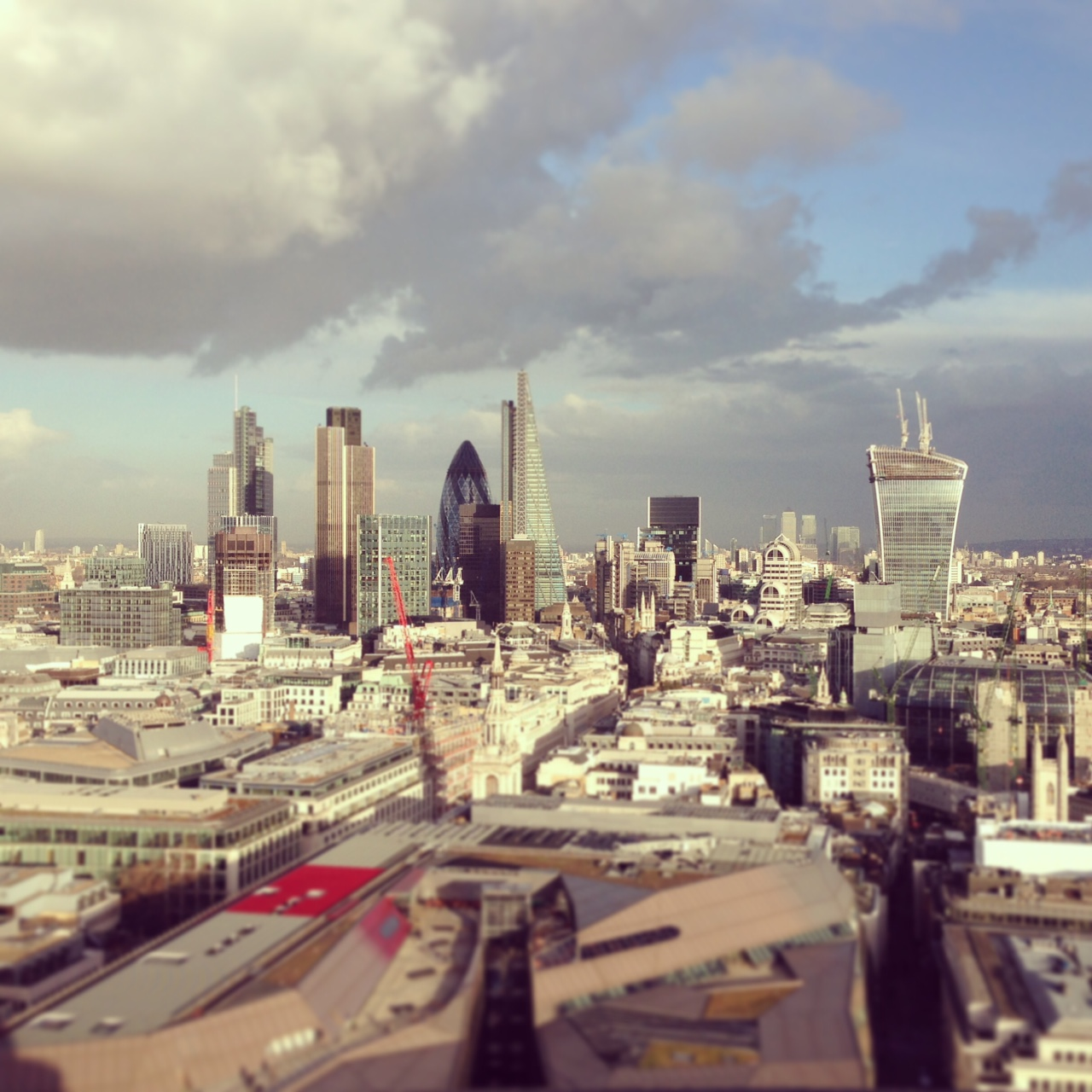 View of the City of London from atop St. Paul's Cathedral