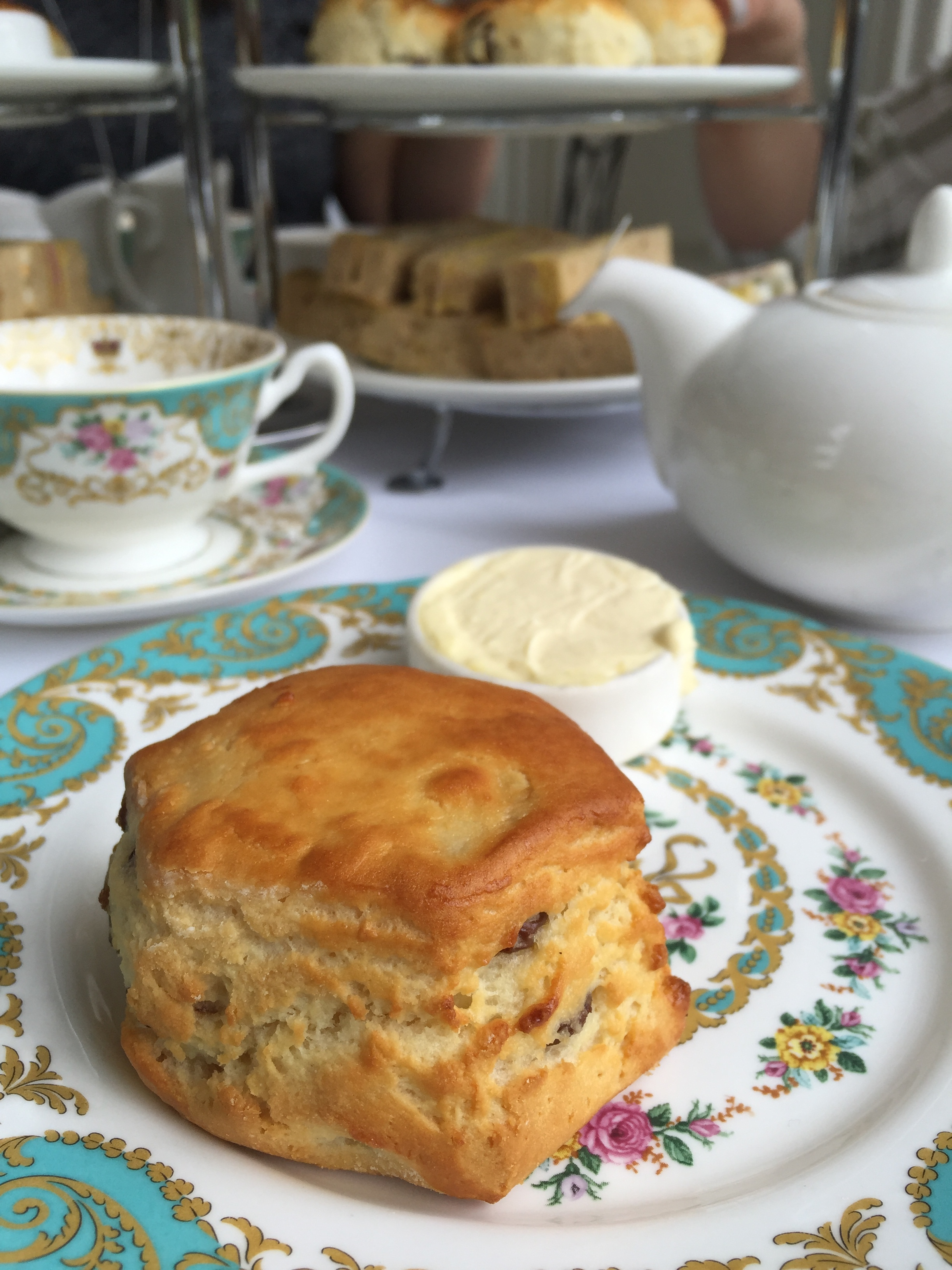 An incospicously gluten free scone at The Orangery.