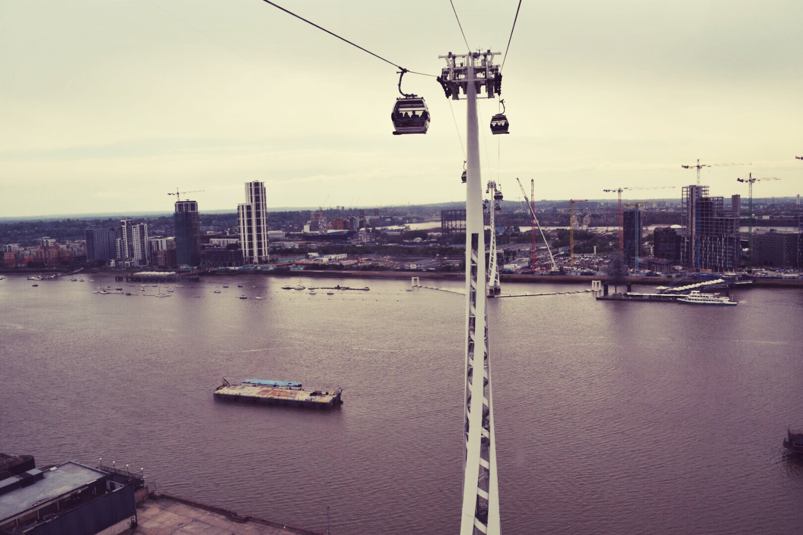 Emirates Air Line cable cars. [Photo by  Laura Hughes .]