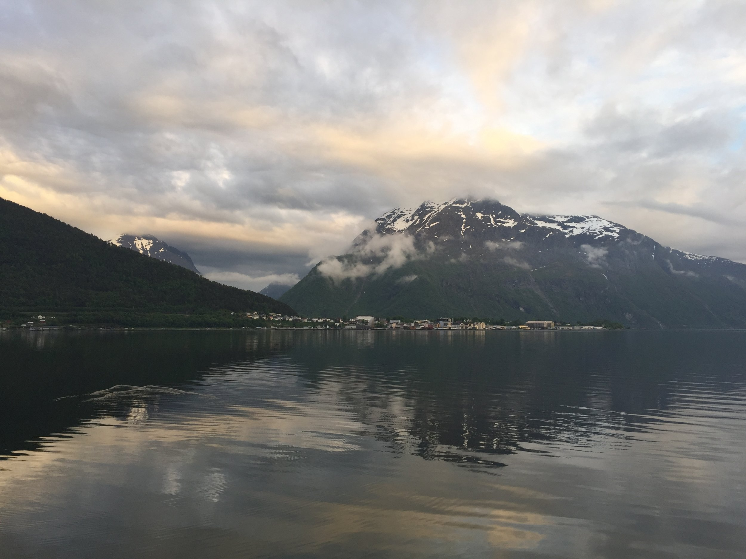 """Sunset"" at 10:45 pm, Åndalsnes, Norway."