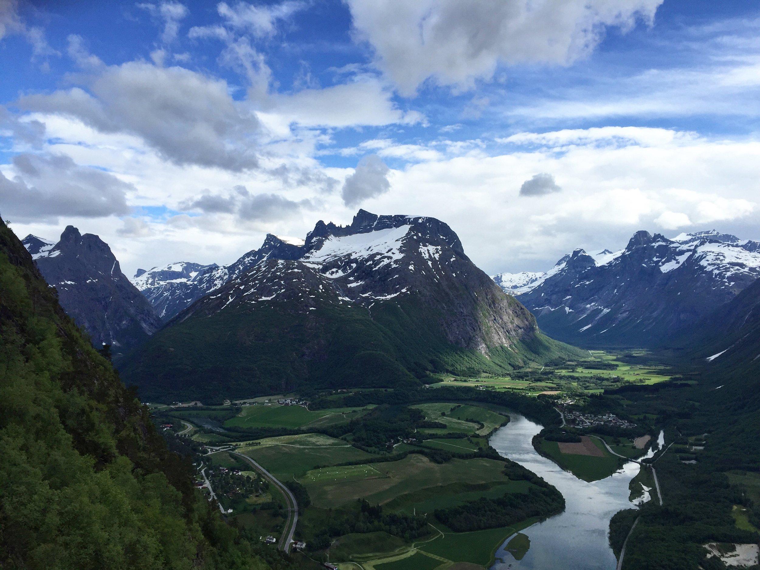 View from Rampestreken viewpoint.